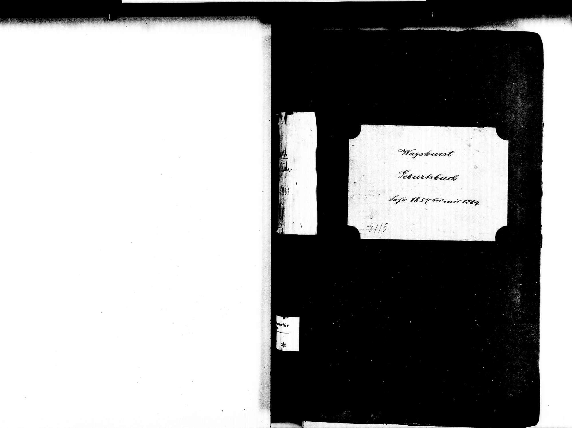 Wagshurst, Achern OG; Katholische Gemeinde: Geburtenbuch 1857-1869, Bild 3