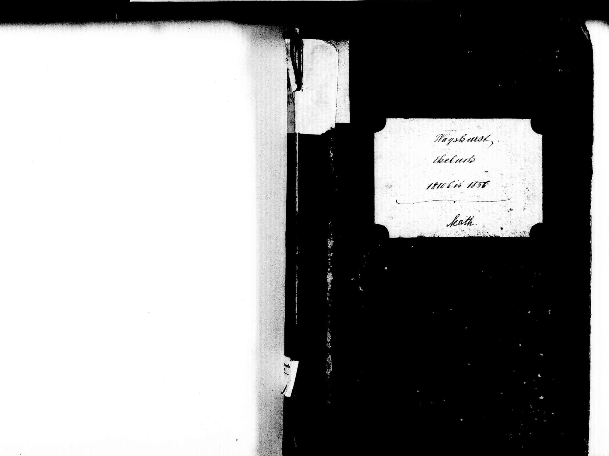 Wagshurst, Achern OG; Katholische Gemeinde: Heiratsbuch 1810-1856, Bild 2