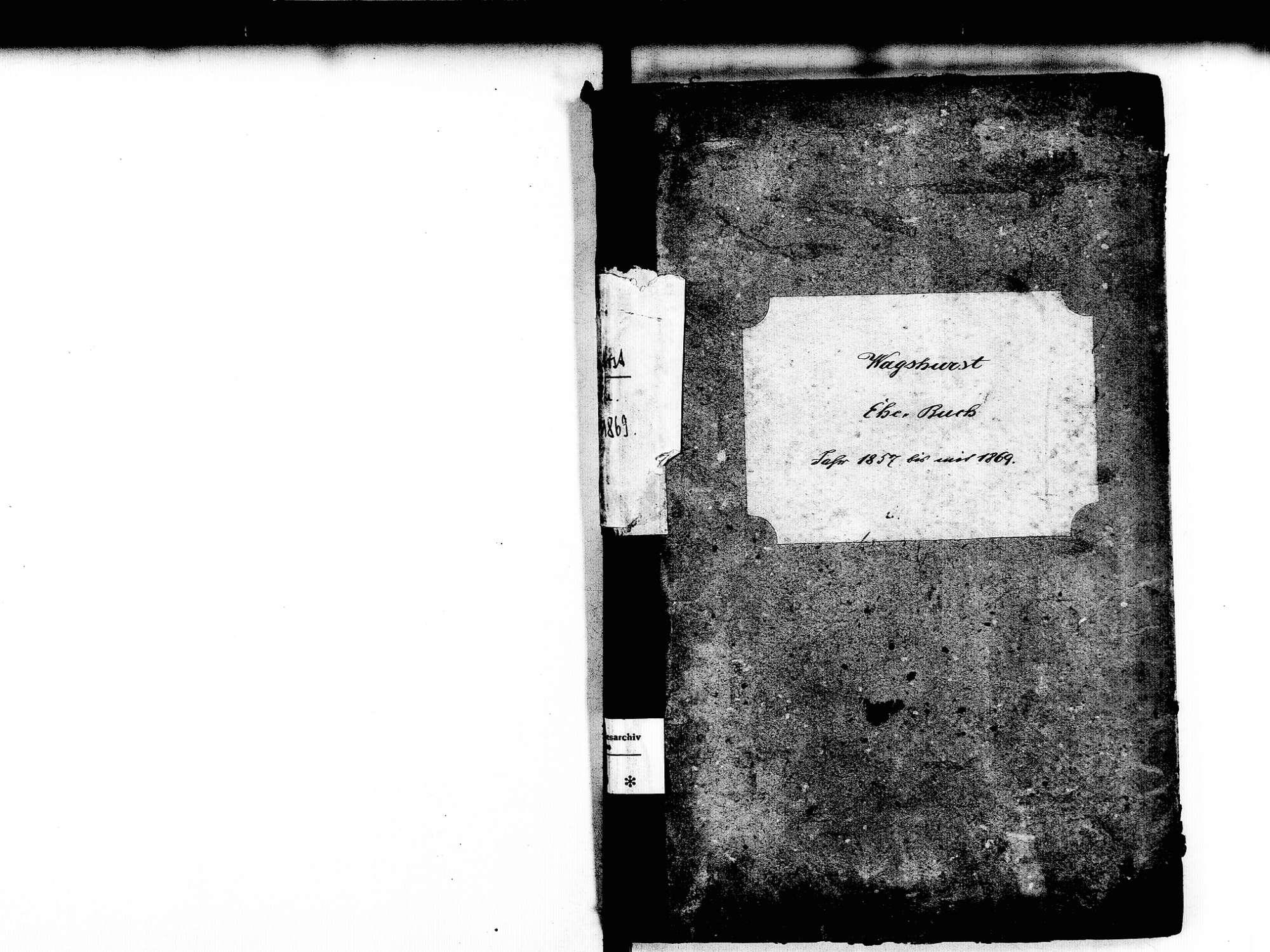 Wagshurst, Achern OG; Katholische Gemeinde: Heiratsbuch 1857-1869, Bild 2
