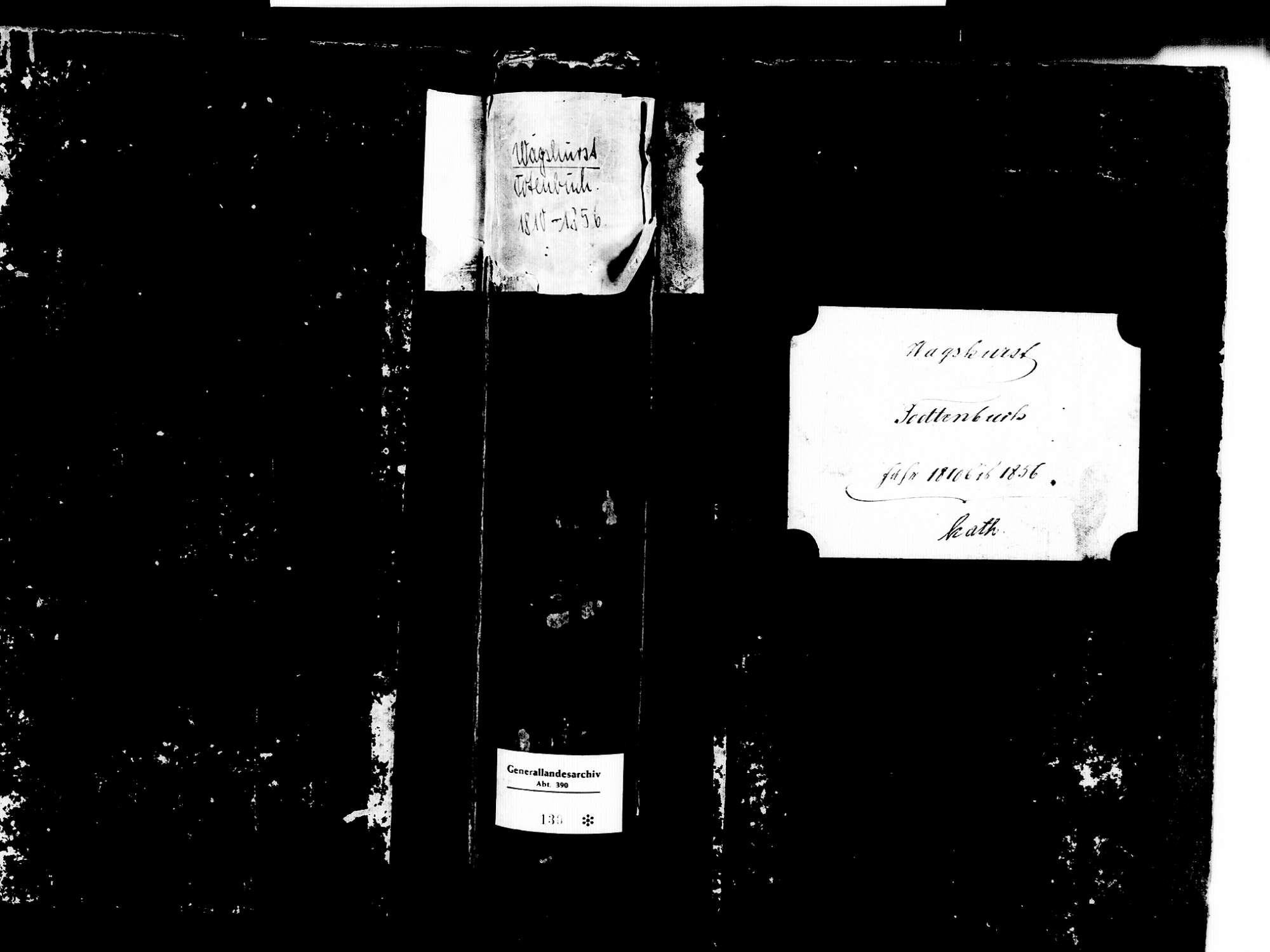 Wagshurst, Achern OG; Katholische Gemeinde: Sterbebuch 1810-1856, Bild 1