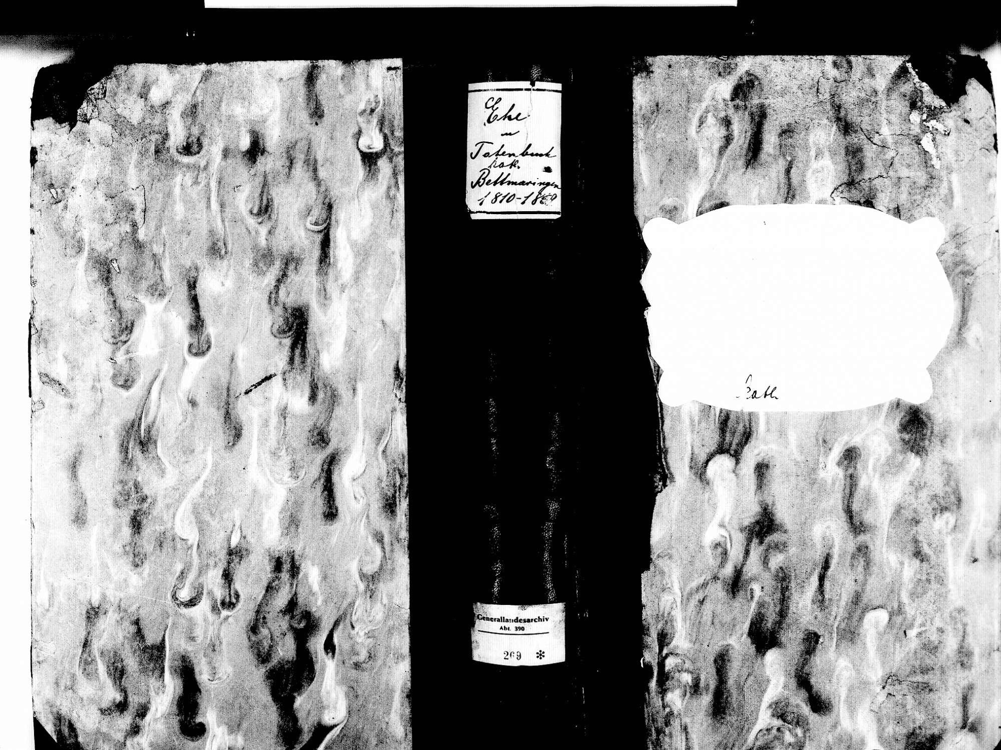 Bettmaringen, Stühlingen WT; Katholische Gemeinde: Sterbebuch 1810-1869, Bild 1