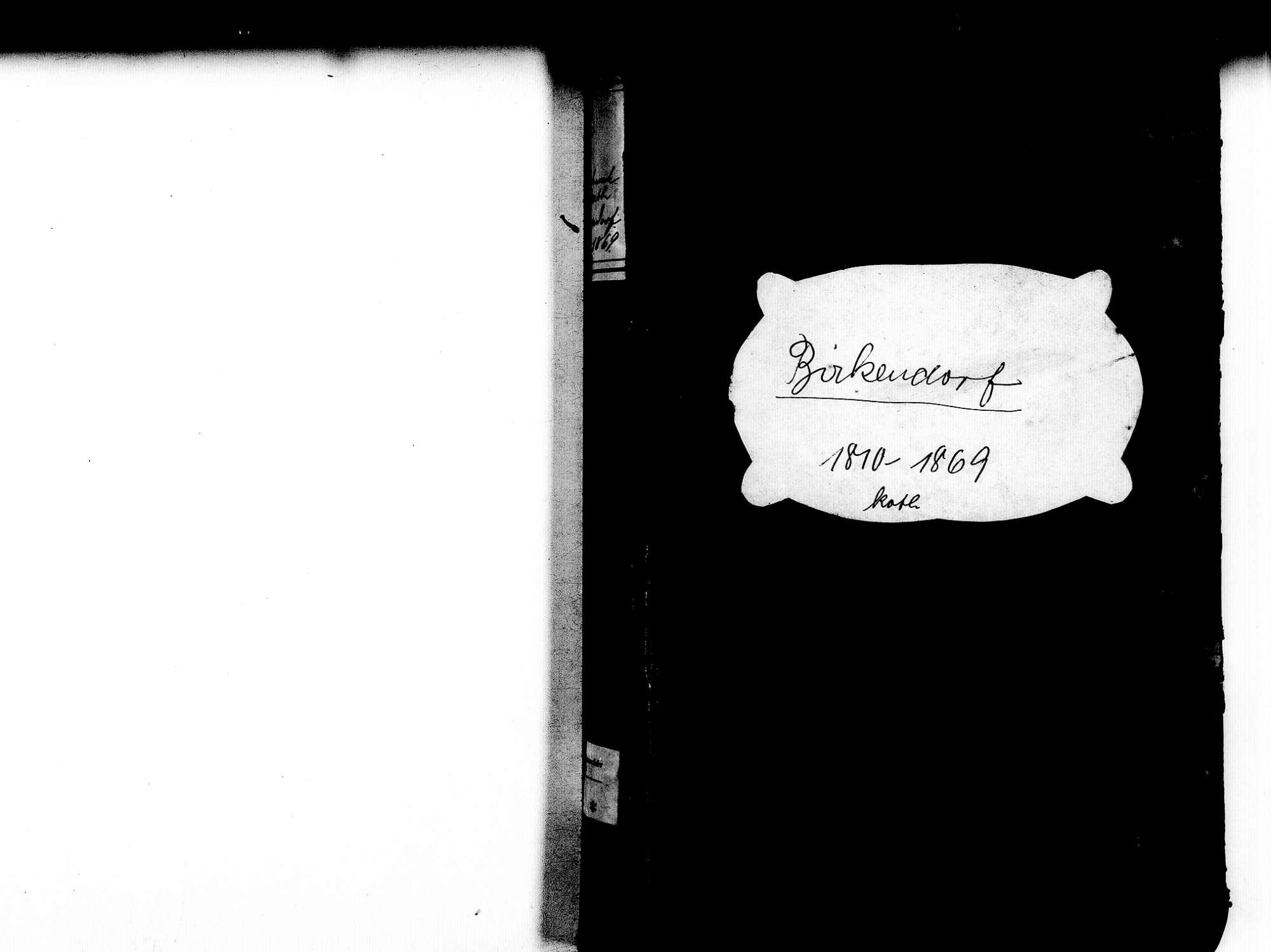 Birkendorf, Ühlingen-Birkendorf WT; Katholische Gemeinde: Heirats- und Sterbebuch 1810-1869, Bild 2