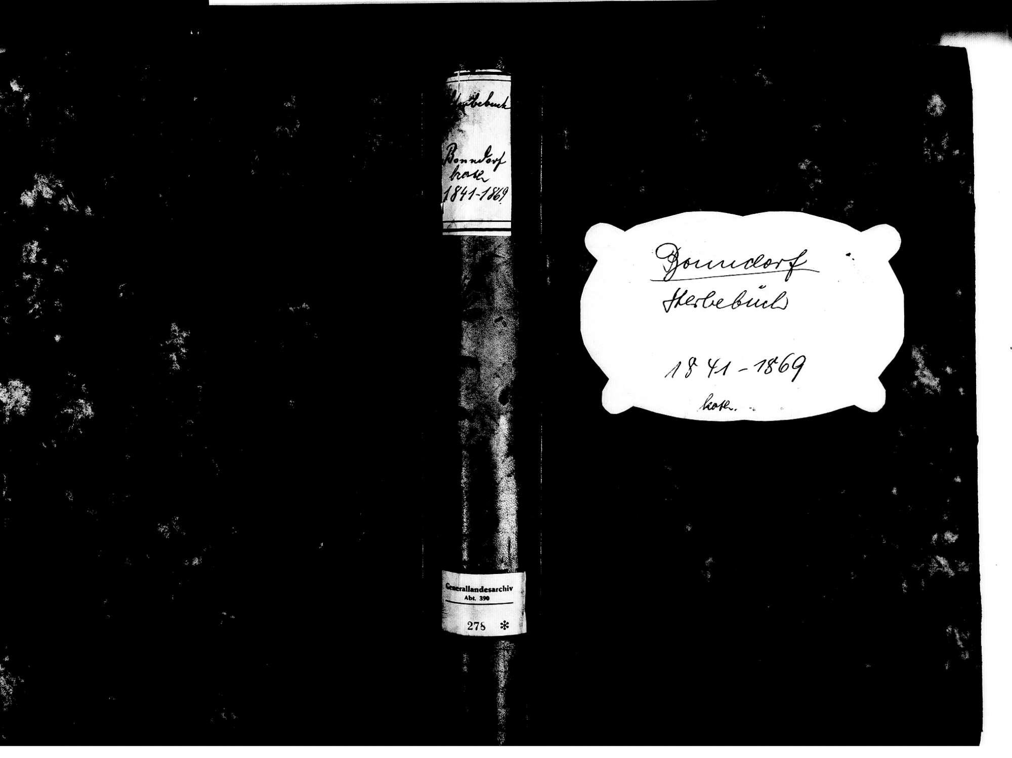 Bonndorf im Schwarzwald WT; Katholische Gemeinde: Sterbebuch 1841-1869, Bild 1