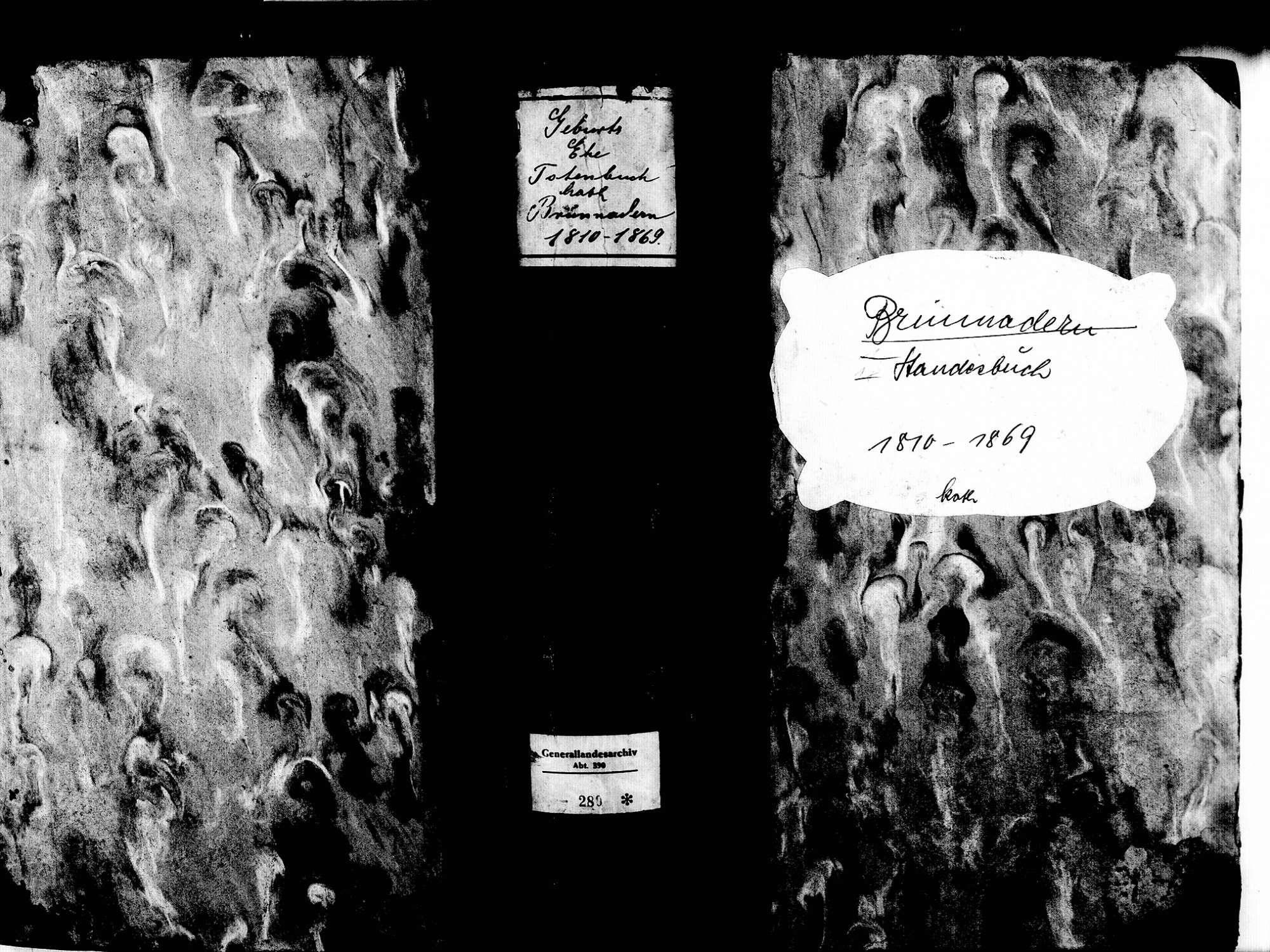 Brunnadern, Bonndorf im Schwarzwald WT; Katholische Gemeinde: Standesbuch 1810-1869, Bild 1