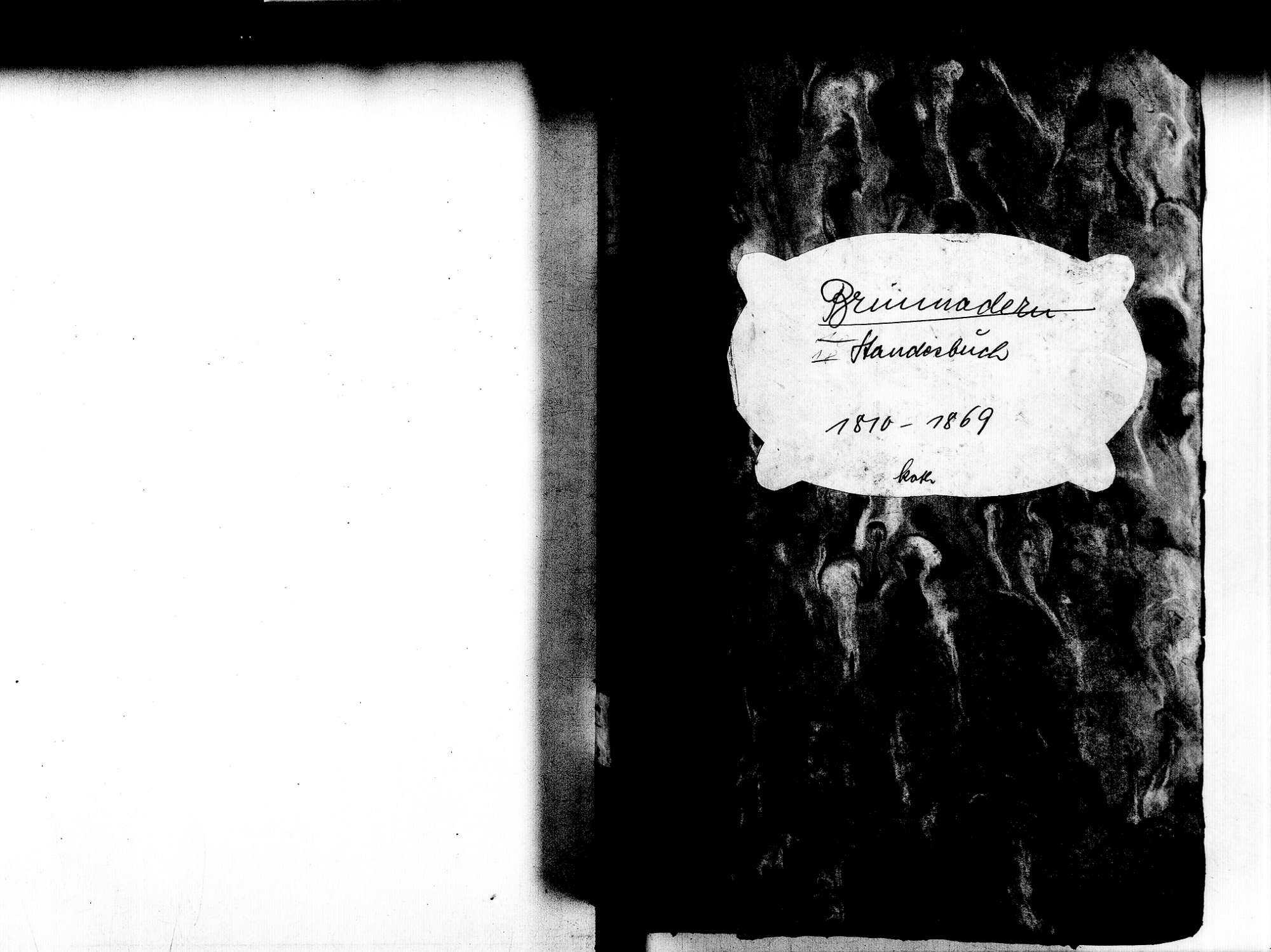 Brunnadern, Bonndorf im Schwarzwald WT; Katholische Gemeinde: Standesbuch 1810-1869, Bild 2