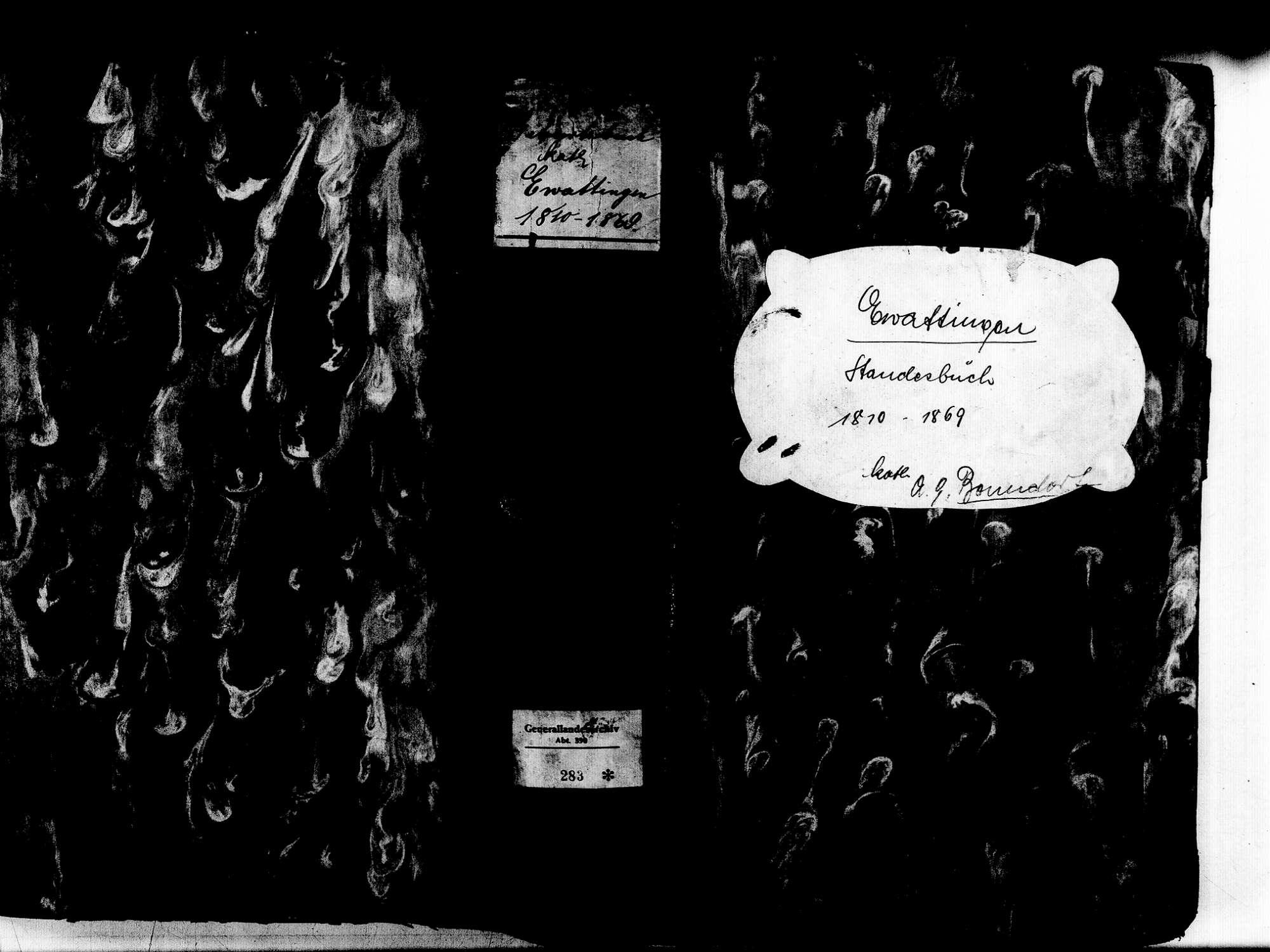Ewattingen, Wutach WT; Katholische Gemeinde: Geburtenbuch 1810-1869, Bild 1