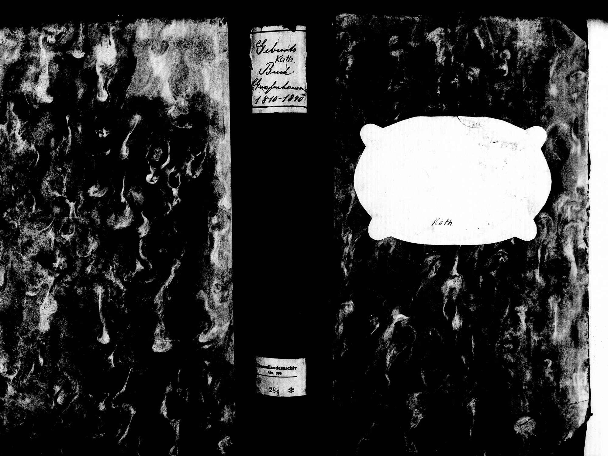 Grafenhausen WT; Katholische Gemeinde: Geburtenbuch 1810-1840, Bild 1