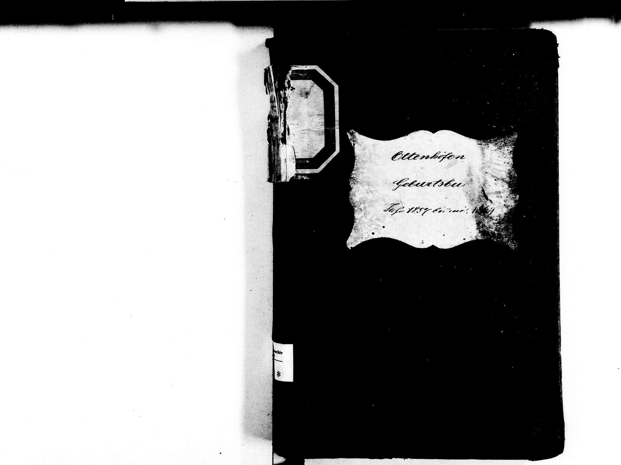 Ottenhöfen im Schwarzwald OG; Katholische Gemeinde: Geburtenbuch 1857-1869, Bild 2
