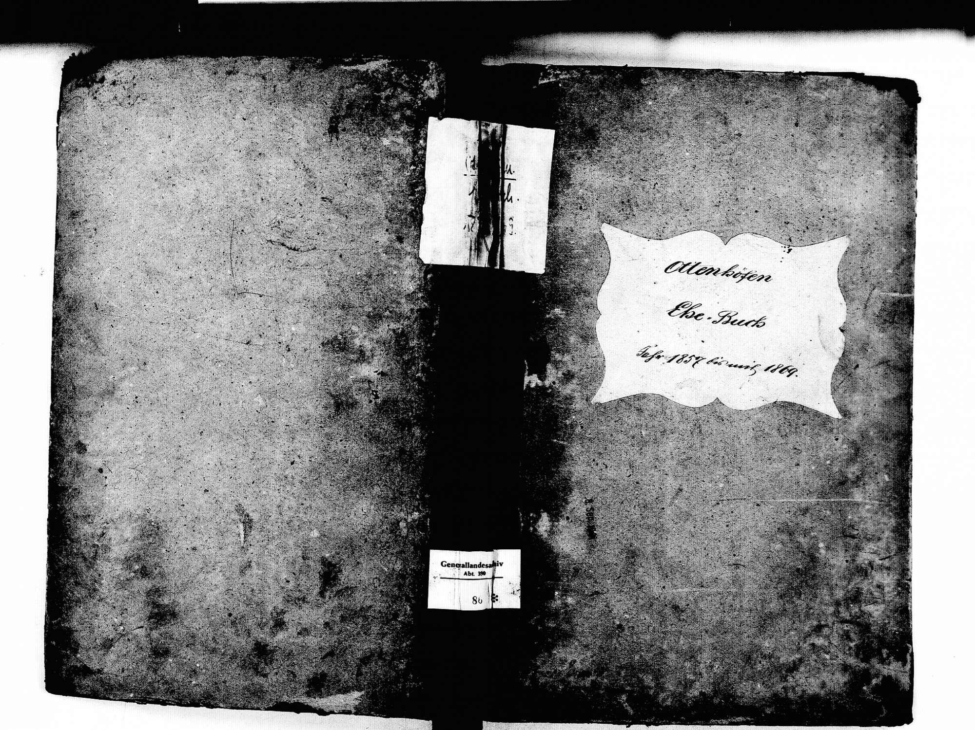 Ottenhöfen im Schwarzwald OG; Katholische Gemeinde: Heiratsbuch 1857-1869, Bild 1