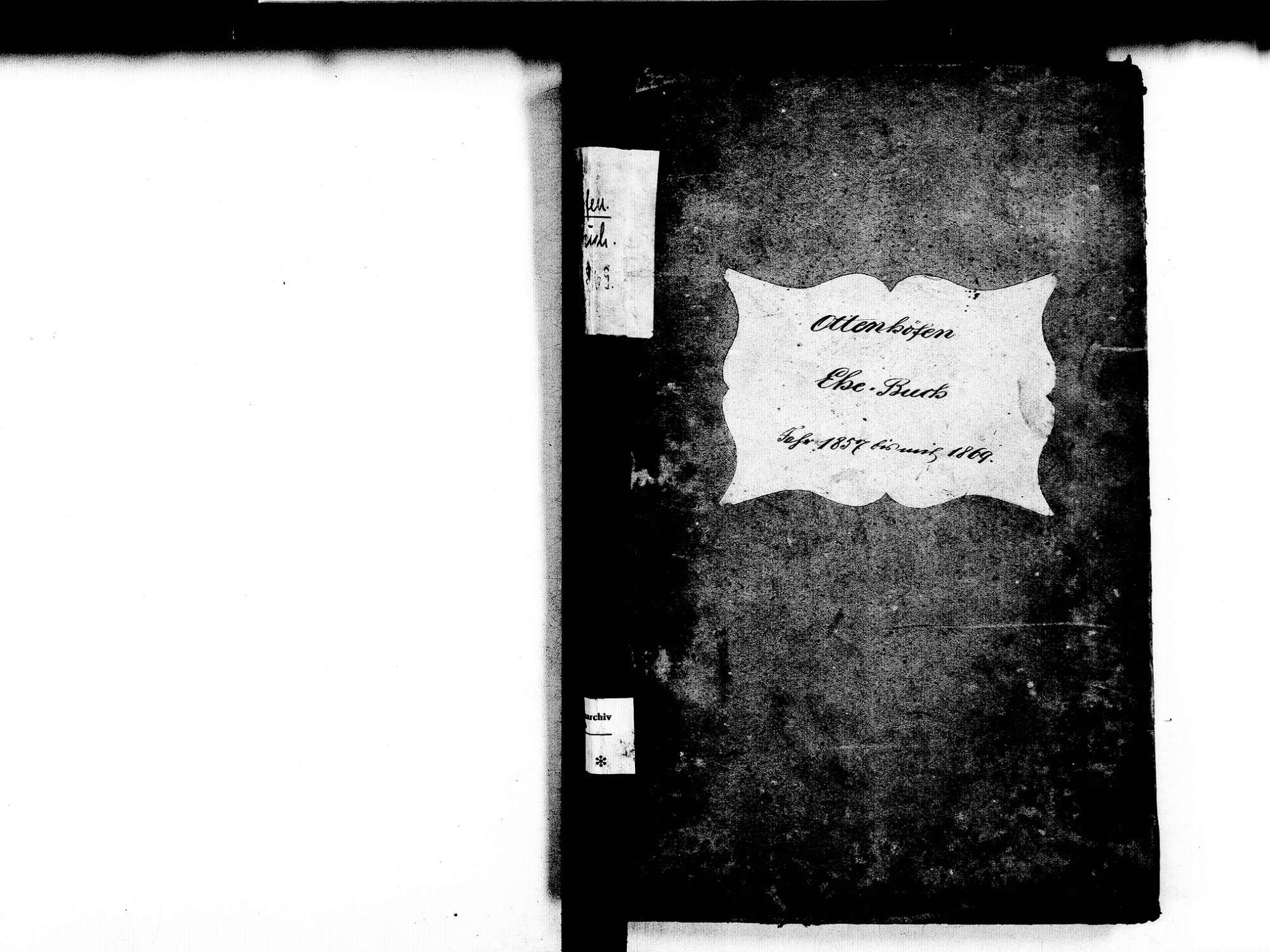 Ottenhöfen im Schwarzwald OG; Katholische Gemeinde: Heiratsbuch 1857-1869, Bild 2