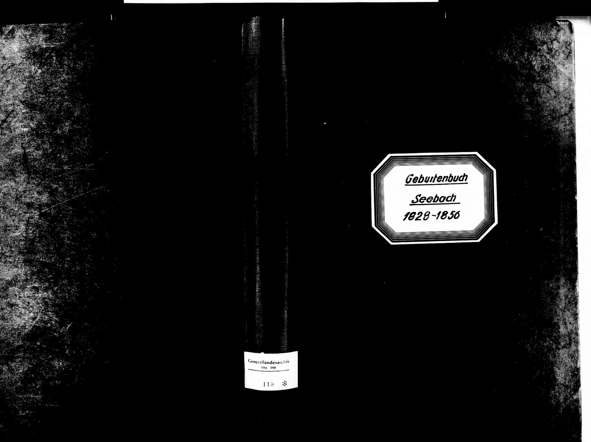 Seebach OG; Katholische Gemeinde: Geburtenbuch 1828-1856, Bild 1