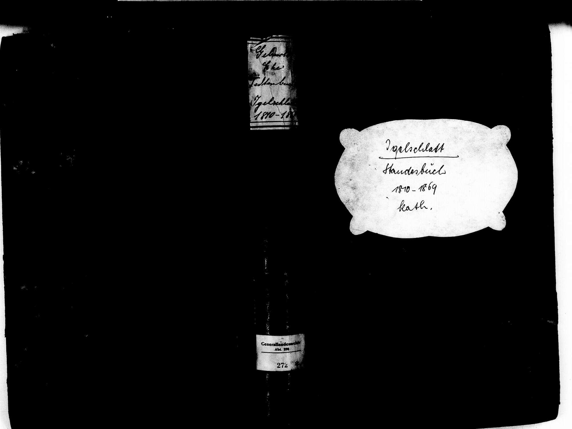 Igelschlatt, Birkendof Ühlingen-Birkendorf WT; Katholische Gemeinde: Standesbuch 1810-1869, Bild 1