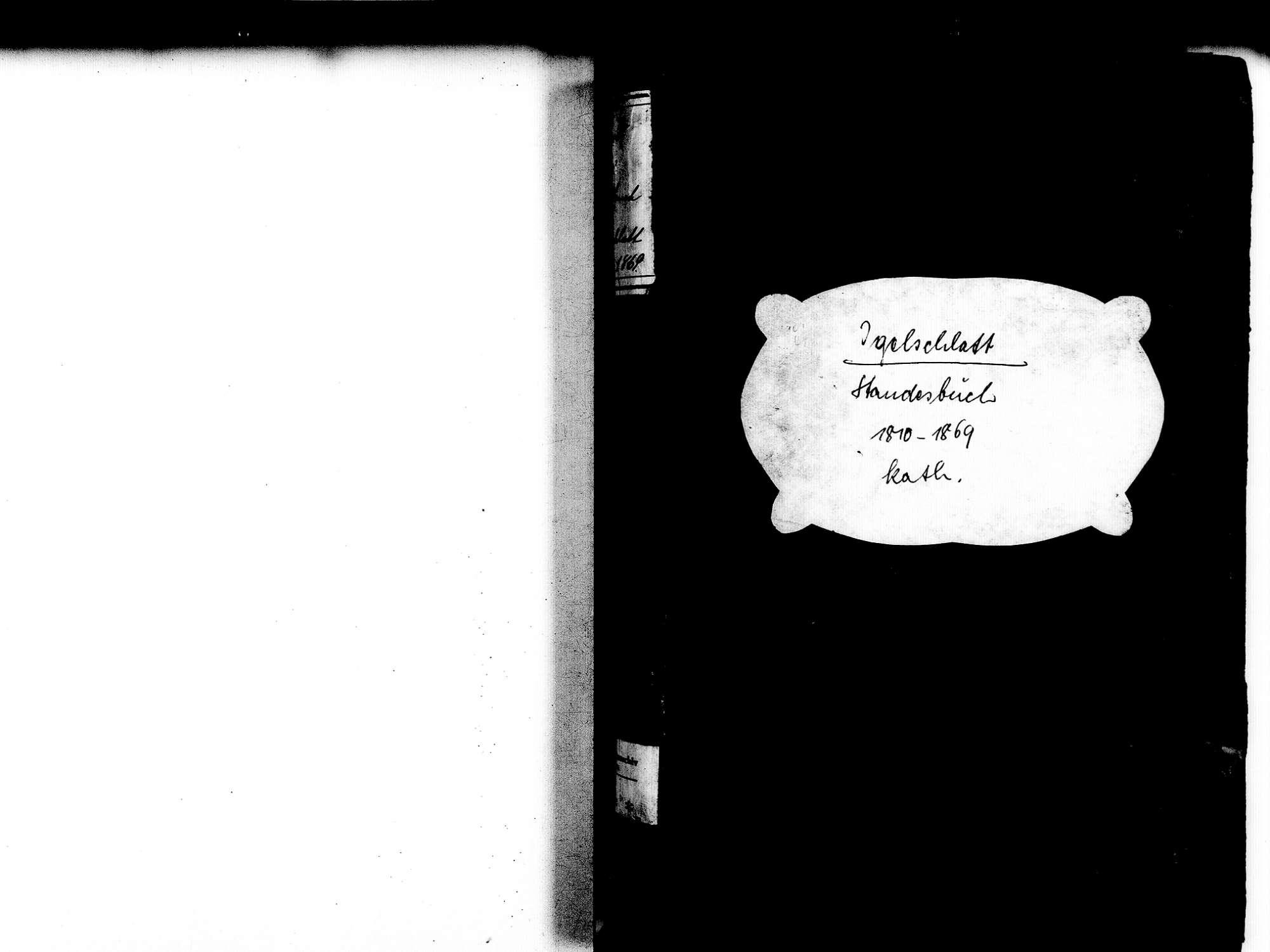 Igelschlatt, Birkendof Ühlingen-Birkendorf WT; Katholische Gemeinde: Standesbuch 1810-1869, Bild 2
