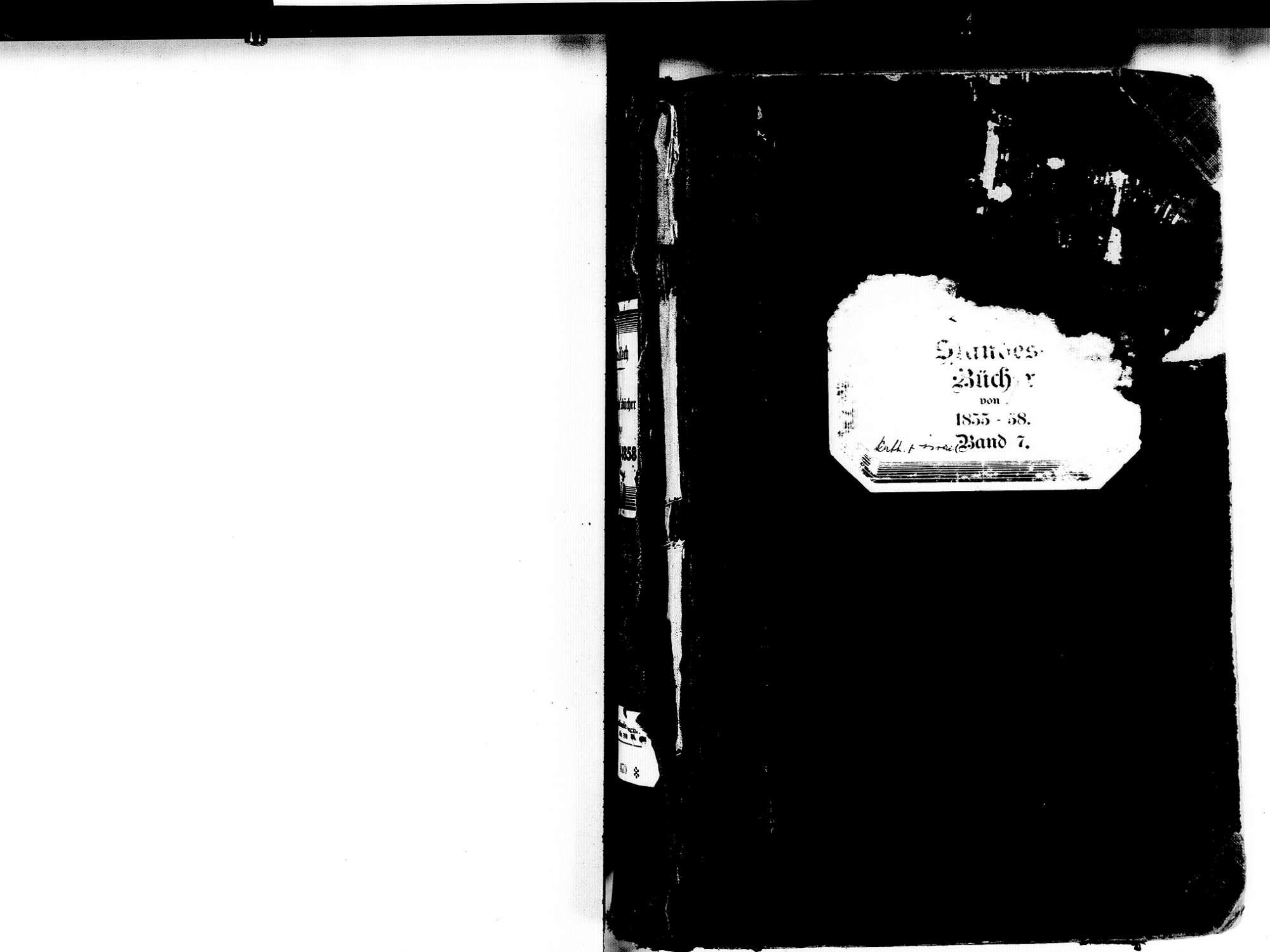 Breisach am Rhein FR; Katholische Gemeinde: Standesbücher 1855-1858 Breisach am Rhein FR; Israelitische Gemeinde: Standesbücher 1855-1858, Bild 2