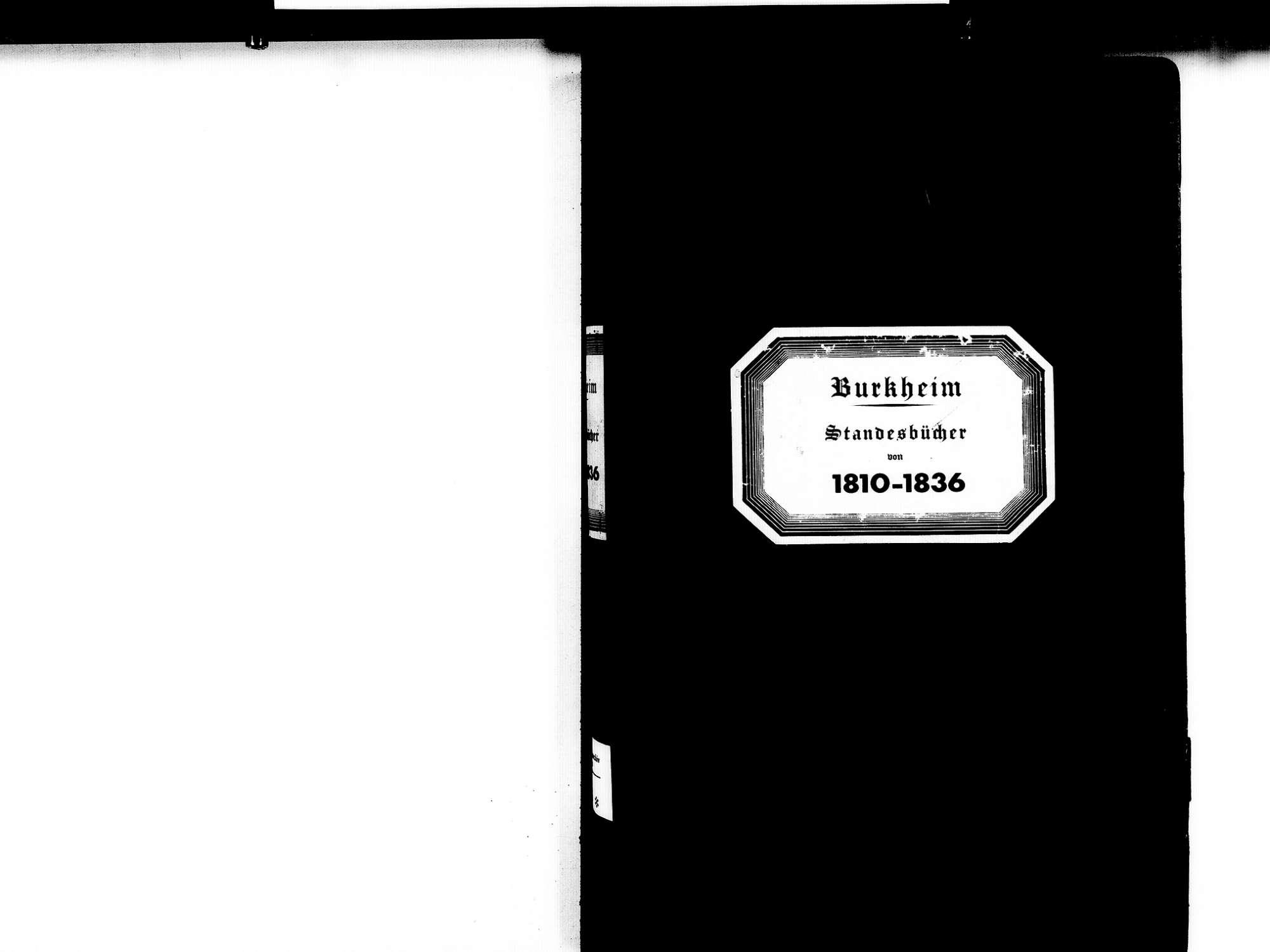 Burkheim Vogtsburg im Kaiserstuhl FR; Katholische Gemeinde: Standesbücher 1810-1836, Bild 2