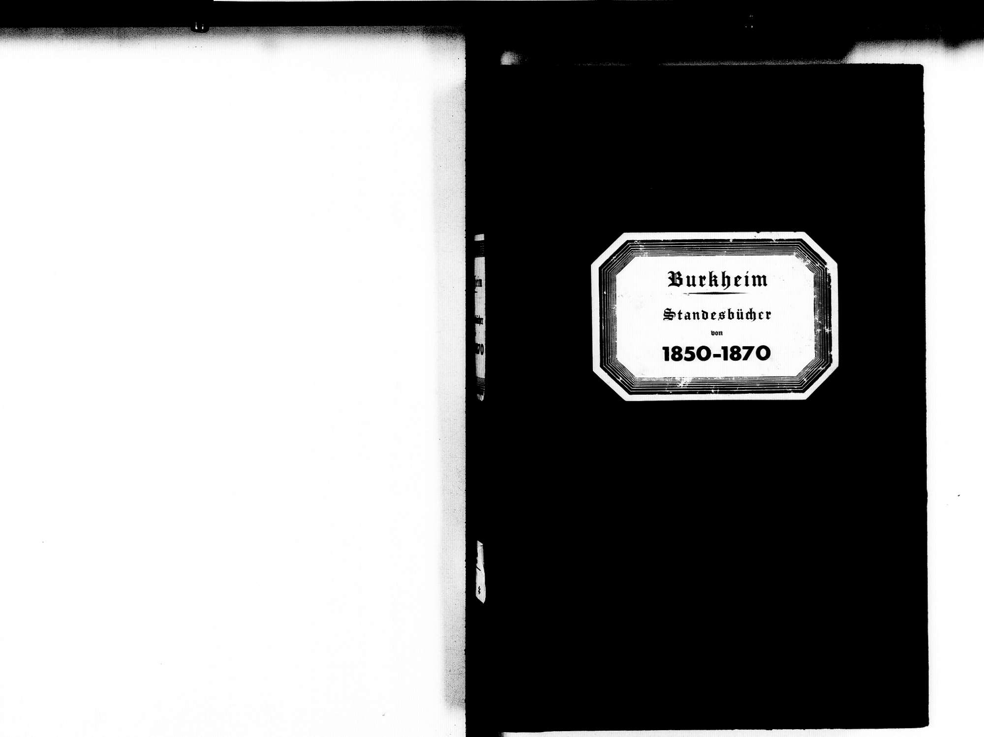 Burkheim Vogtsburg im Kaiserstuhl FR; Katholische Gemeinde: Standesbücher 1850-1870, Bild 3