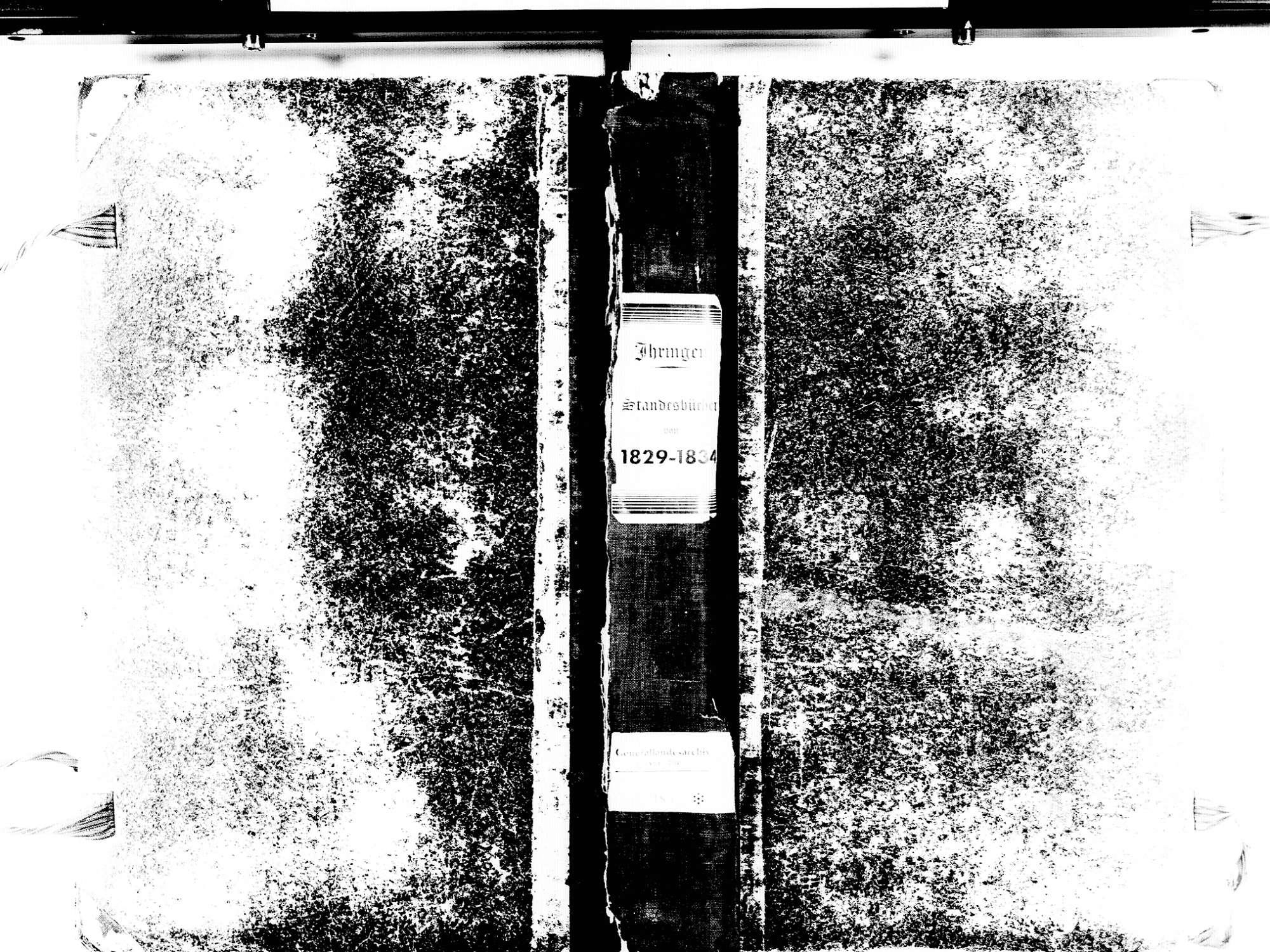 Ihringen FR; Evangelische Gemeinde: Standesbuch 1829-1834 Ihringen FR; Israelitische Gemeinde: Standesbuch 1829-1834, Bild 1