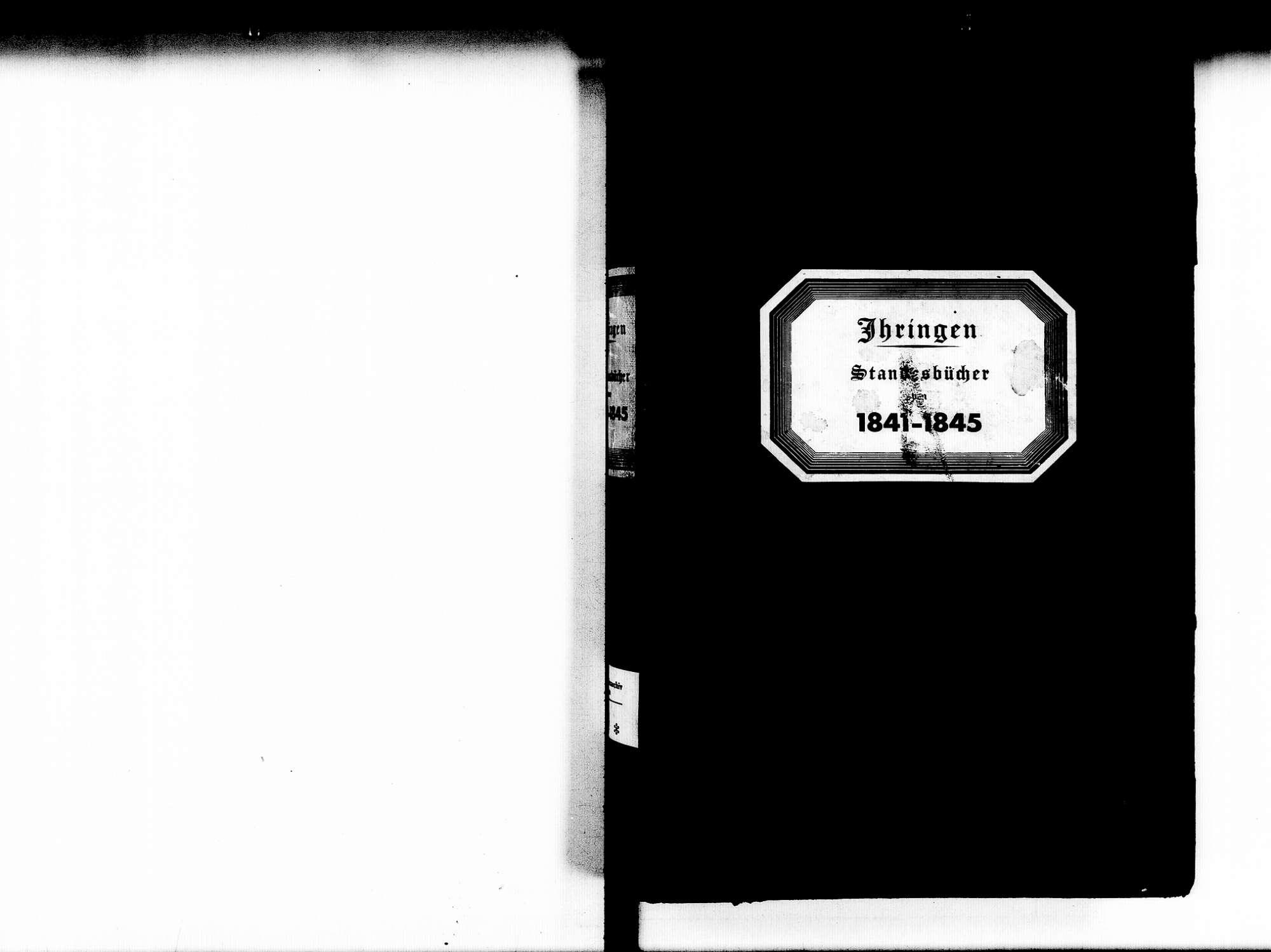 Ihringen FR; Evangelische Gemeinde: Standesbuch 1841-1845 Ihringen FR; Israelitische Gemeinde: Standesbuch 1841-1845, Bild 2