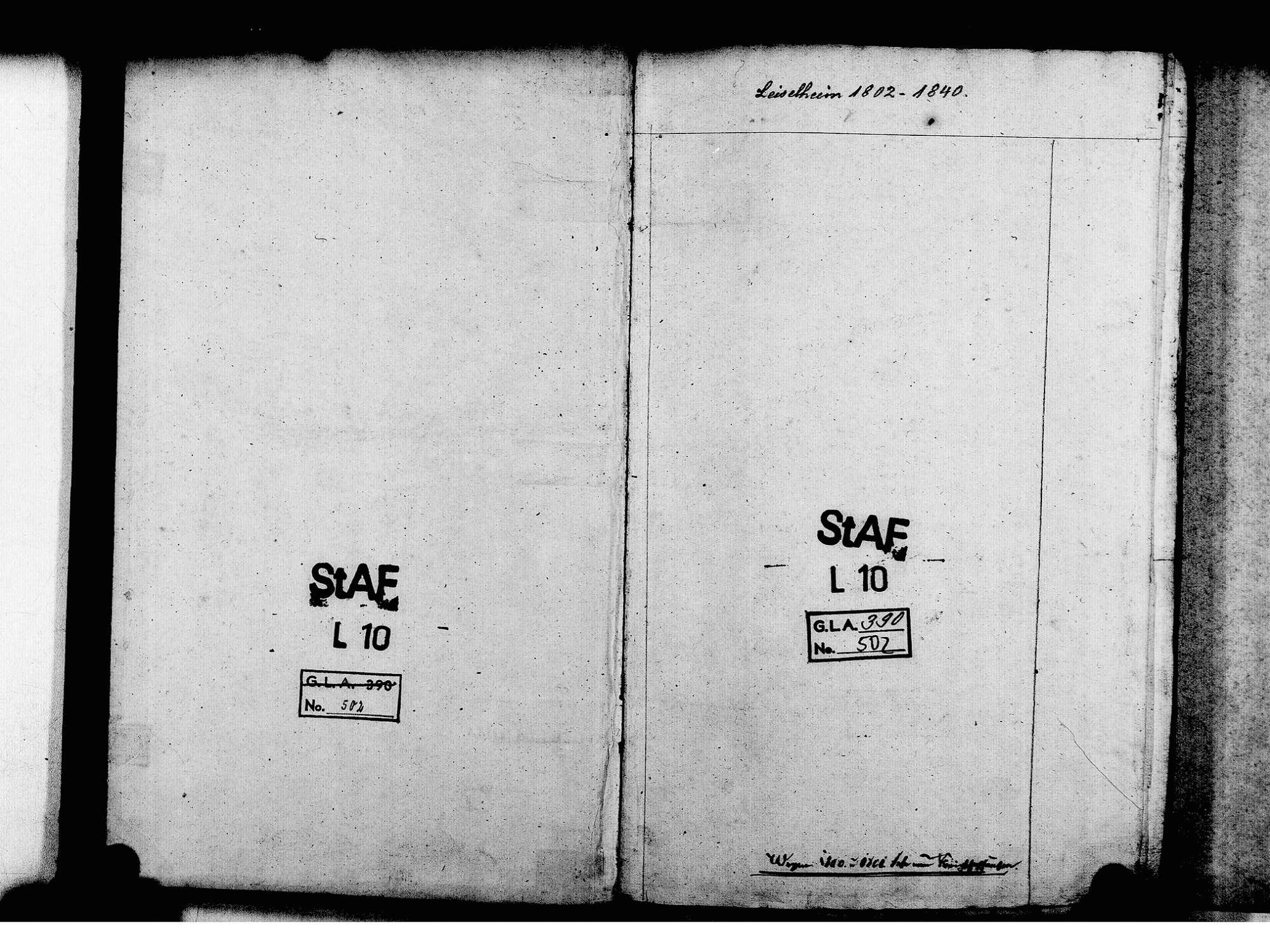 Leiselheim, Sasbach EM; Evangelische Gemeinde: Standesbuch 1802-1840, Bild 3