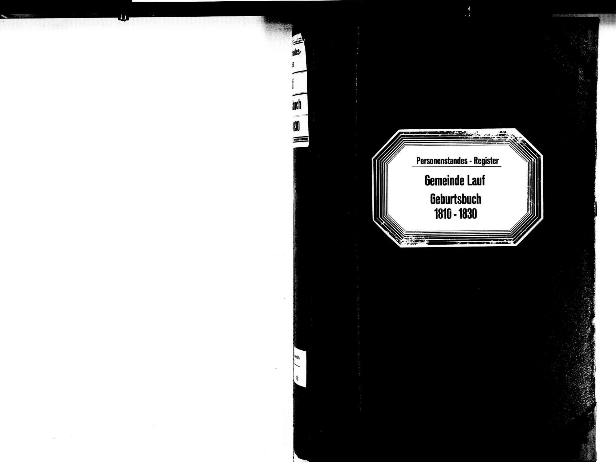 Lauf OG; Katholische Gemeinde: Geburtenbuch 1810-1830, Bild 2