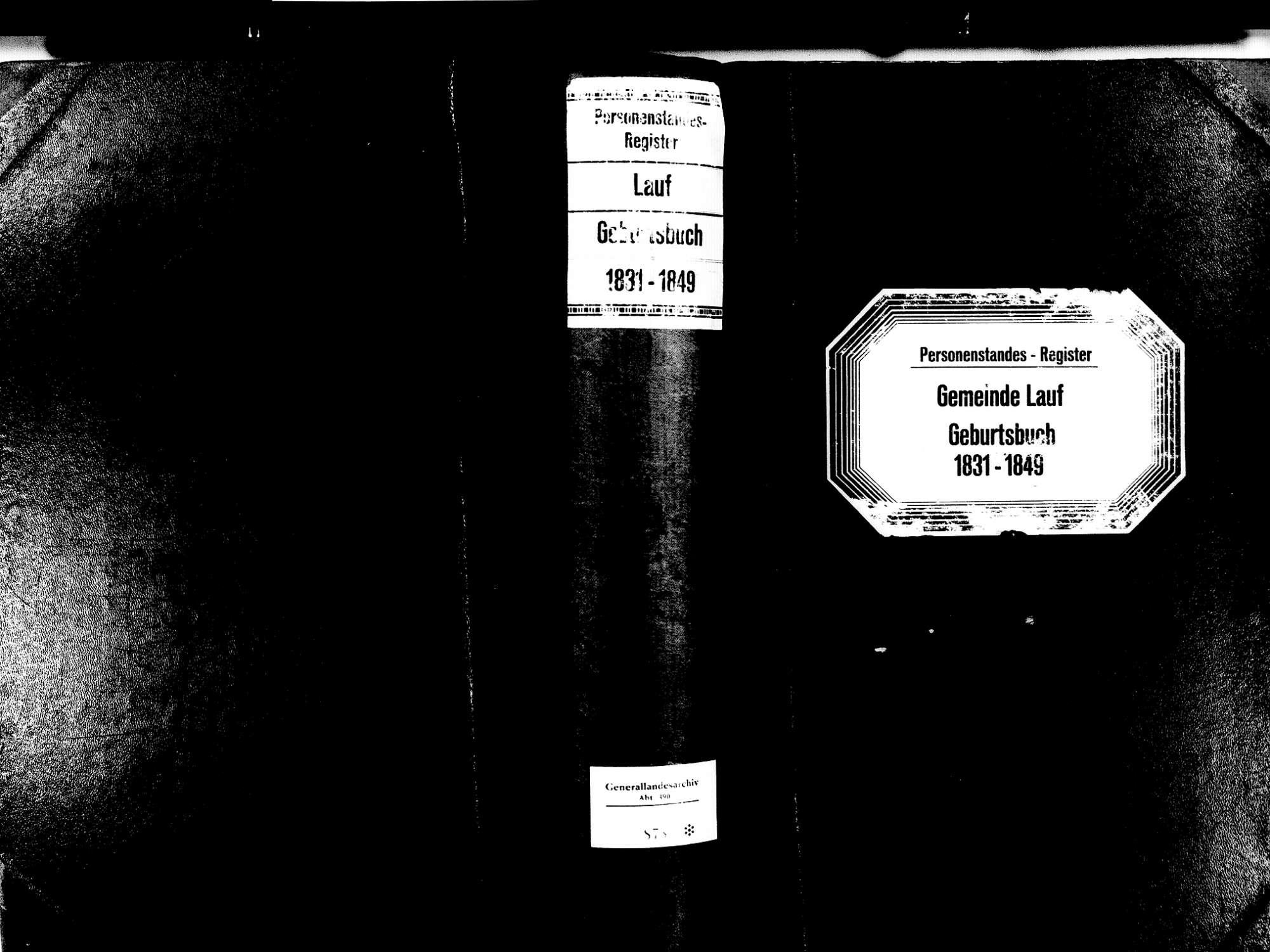 Lauf OG; Katholische Gemeinde: Geburtenbuch 1831-1849, Bild 1