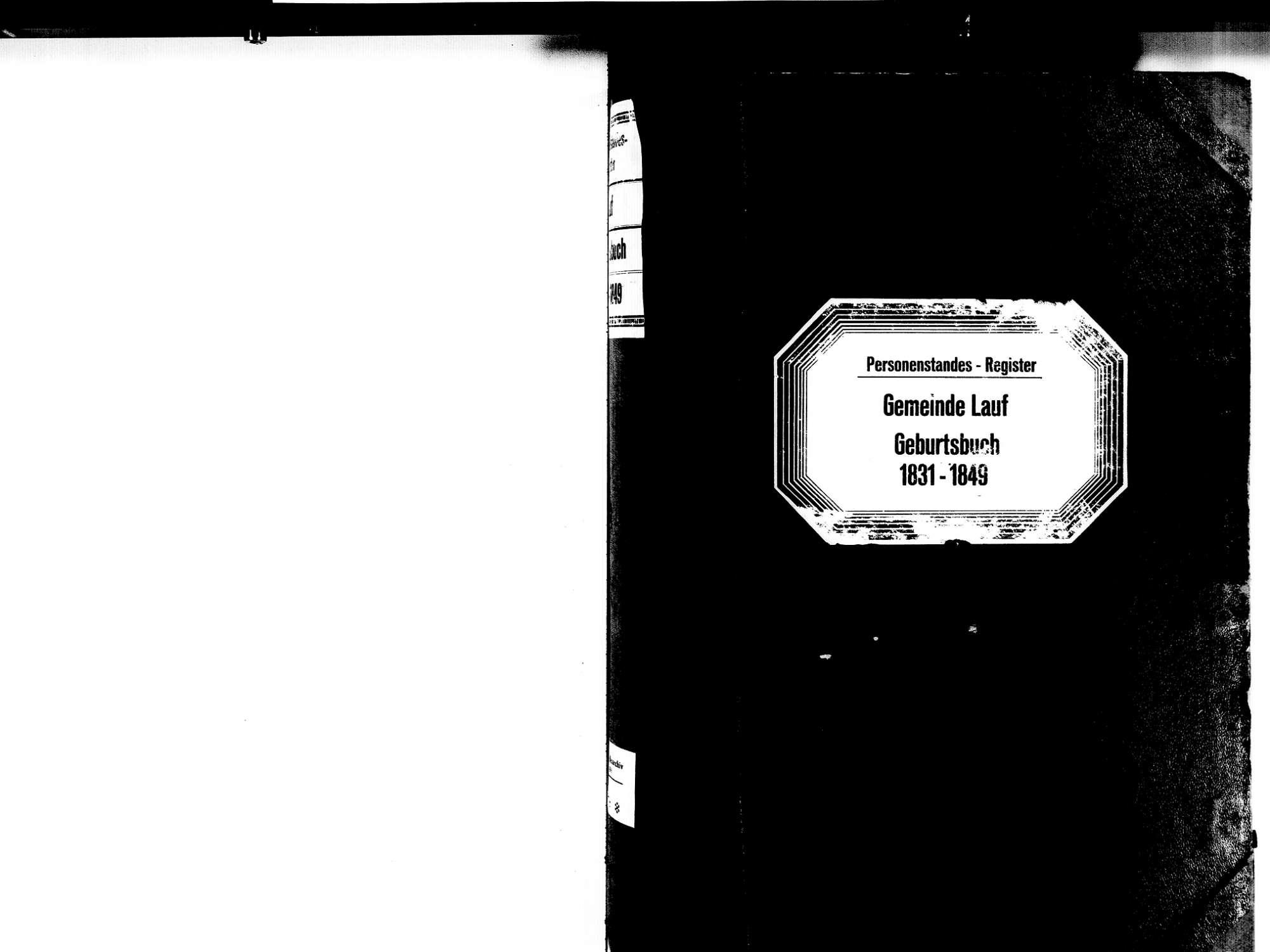 Lauf OG; Katholische Gemeinde: Geburtenbuch 1831-1849, Bild 2