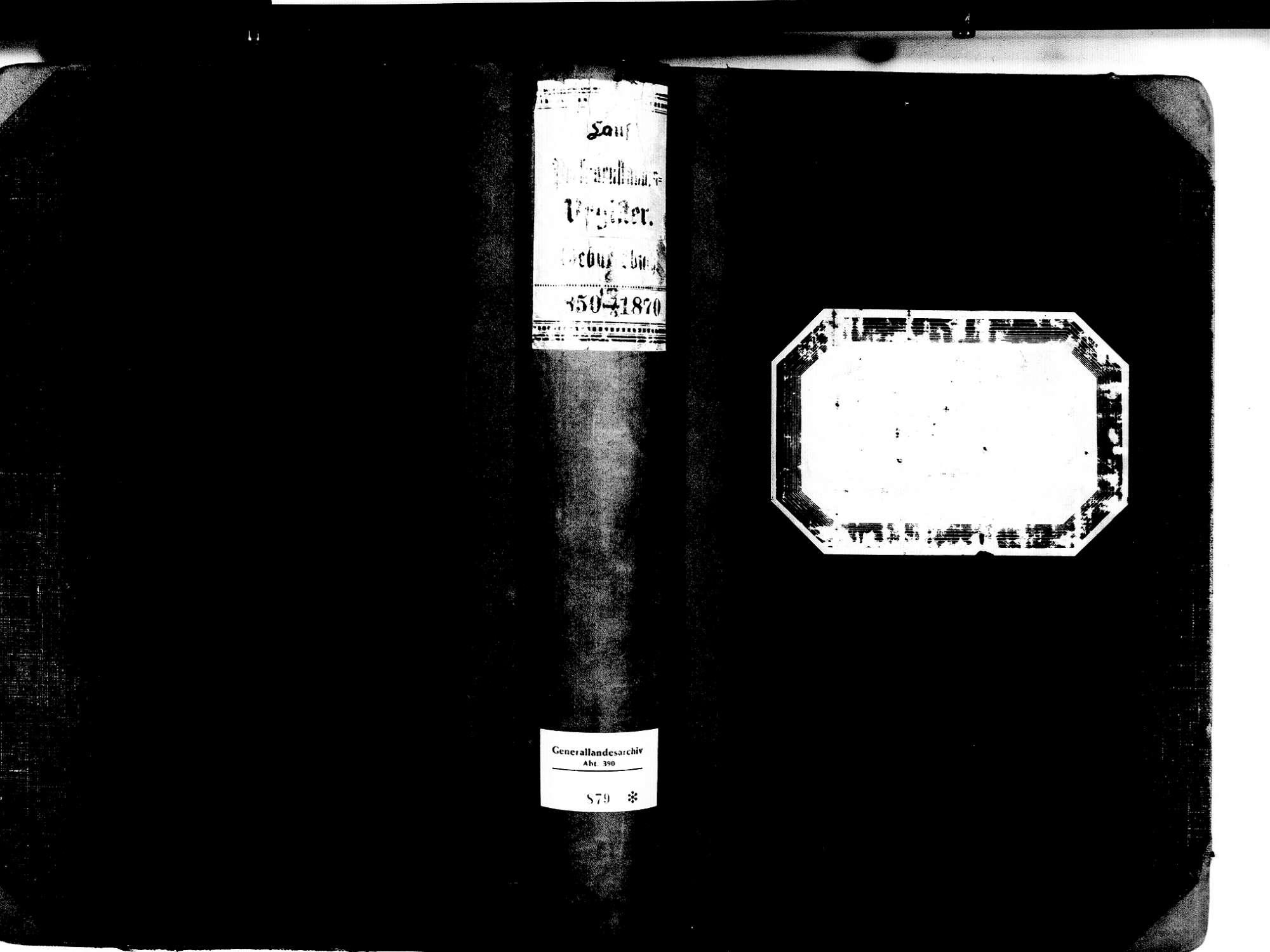 Lauf OG; Katholische Gemeinde: Geburtenbuch 1850-1870, Bild 1