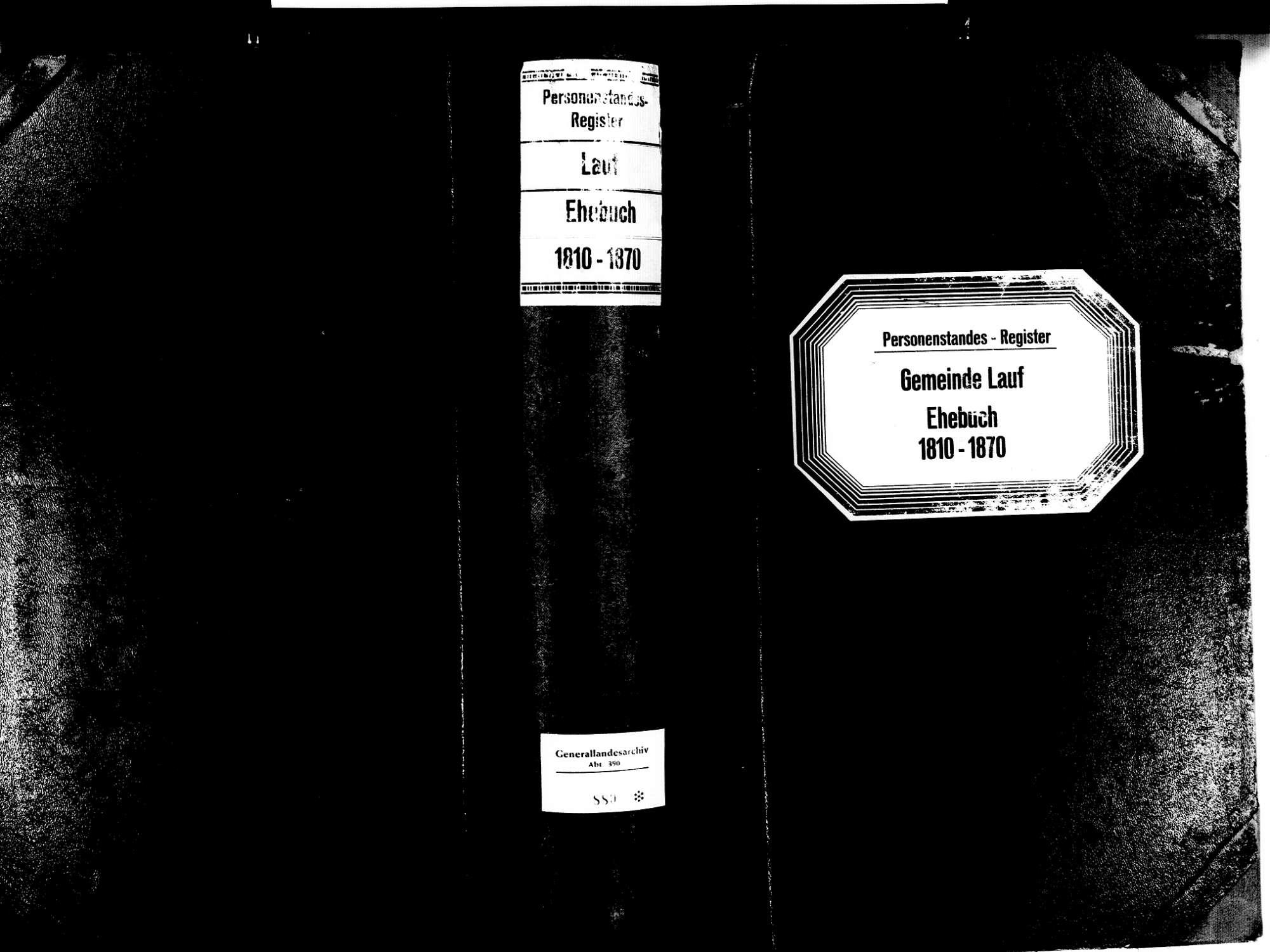 Lauf OG; Katholische Gemeinde: Heiratsbuch 1810-1870, Bild 1
