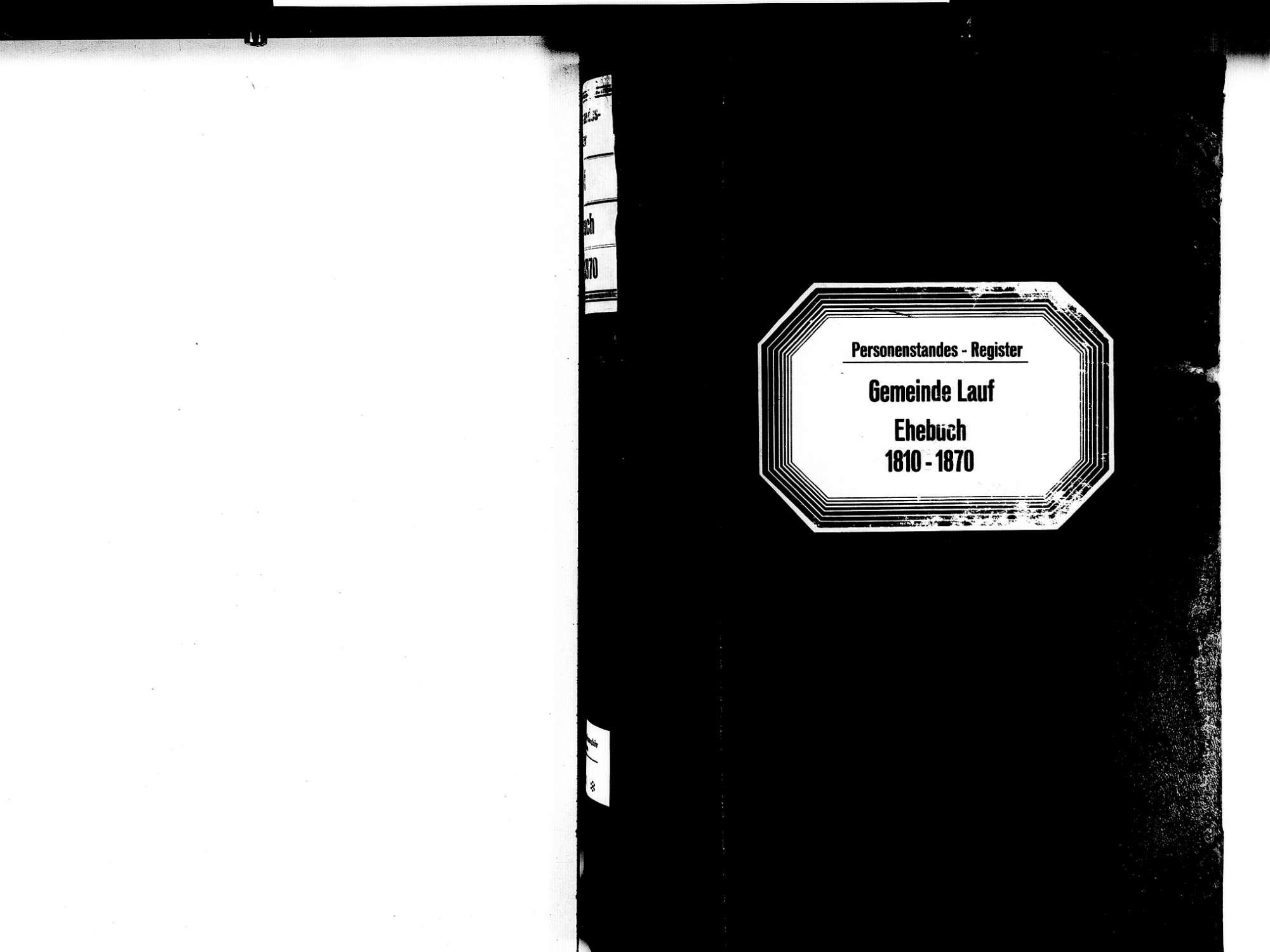 Lauf OG; Katholische Gemeinde: Heiratsbuch 1810-1870, Bild 2