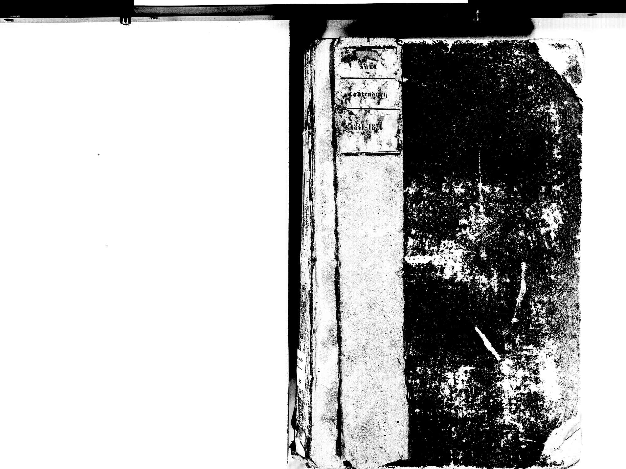 Lauf OG; Katholische Gemeinde: Sterbebuch 1841-1870, Bild 3