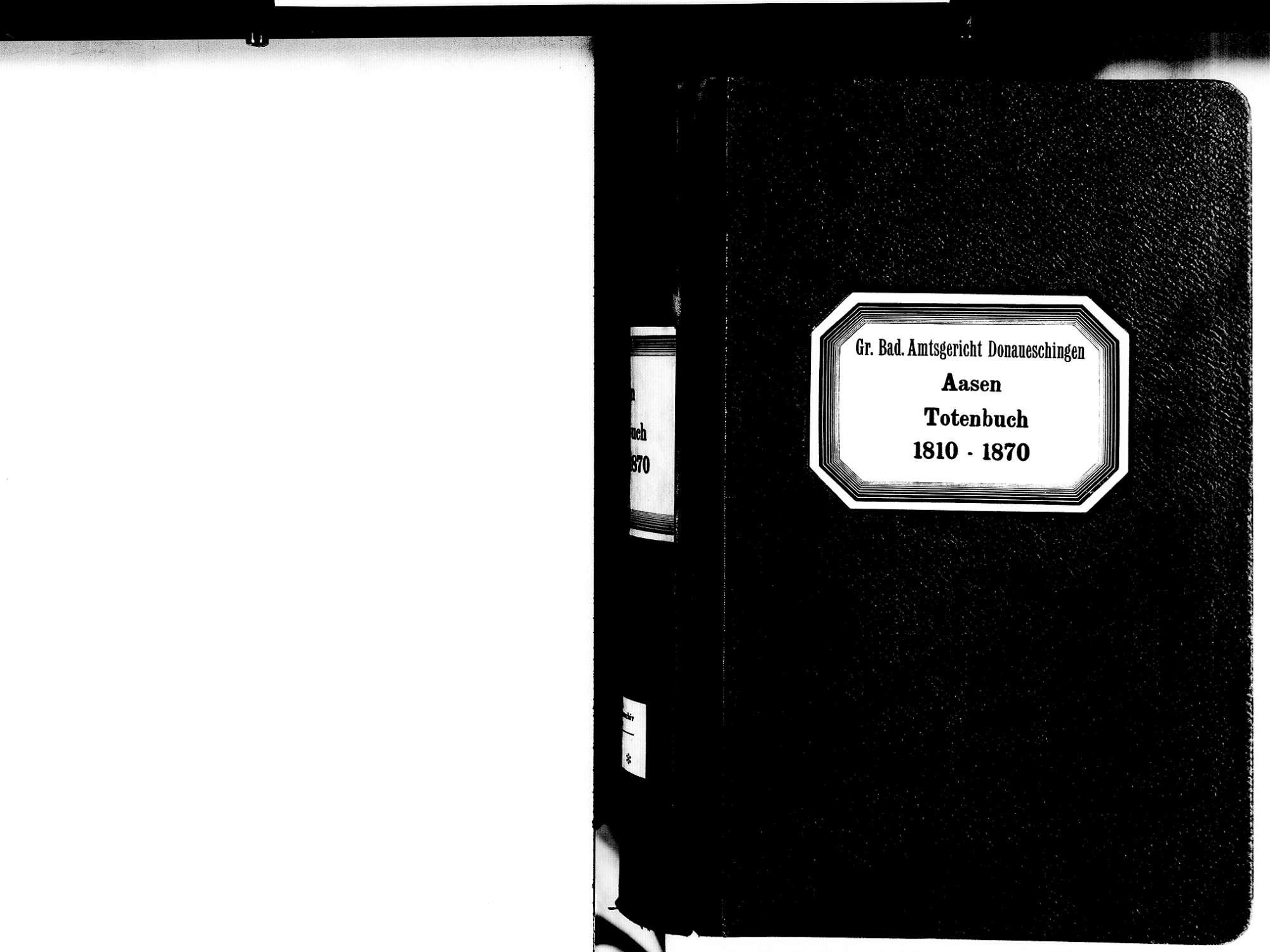 Aasen, Donaueschingen VS; Katholische Gemeinde: Sterbebuch 1810-1870, Bild 2