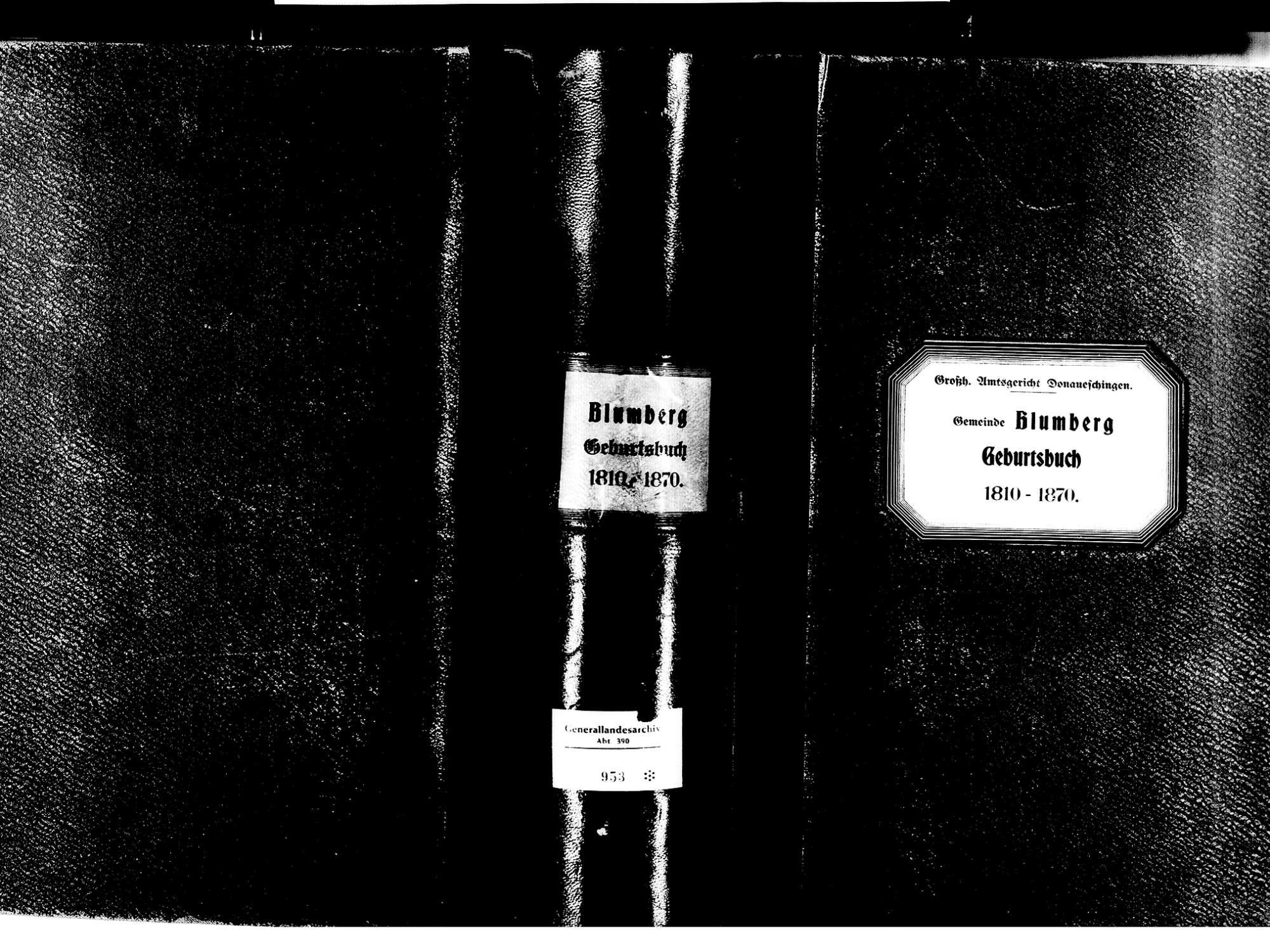 Blumberg VS; Katholische Gemeinde: Geburtenbuch 1810-1870, Bild 2