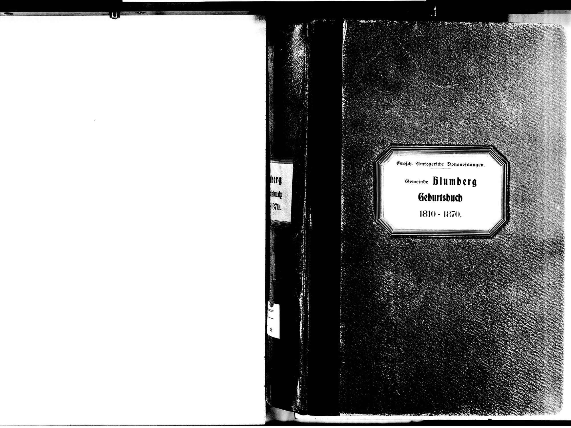 Blumberg VS; Katholische Gemeinde: Geburtenbuch 1810-1870, Bild 3