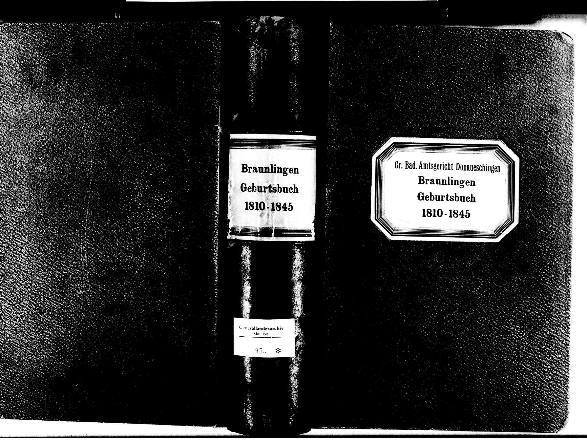 Bräunlingen VS; Katholische Gemeinde: Geburtenbuch 1810-1845, Bild 1