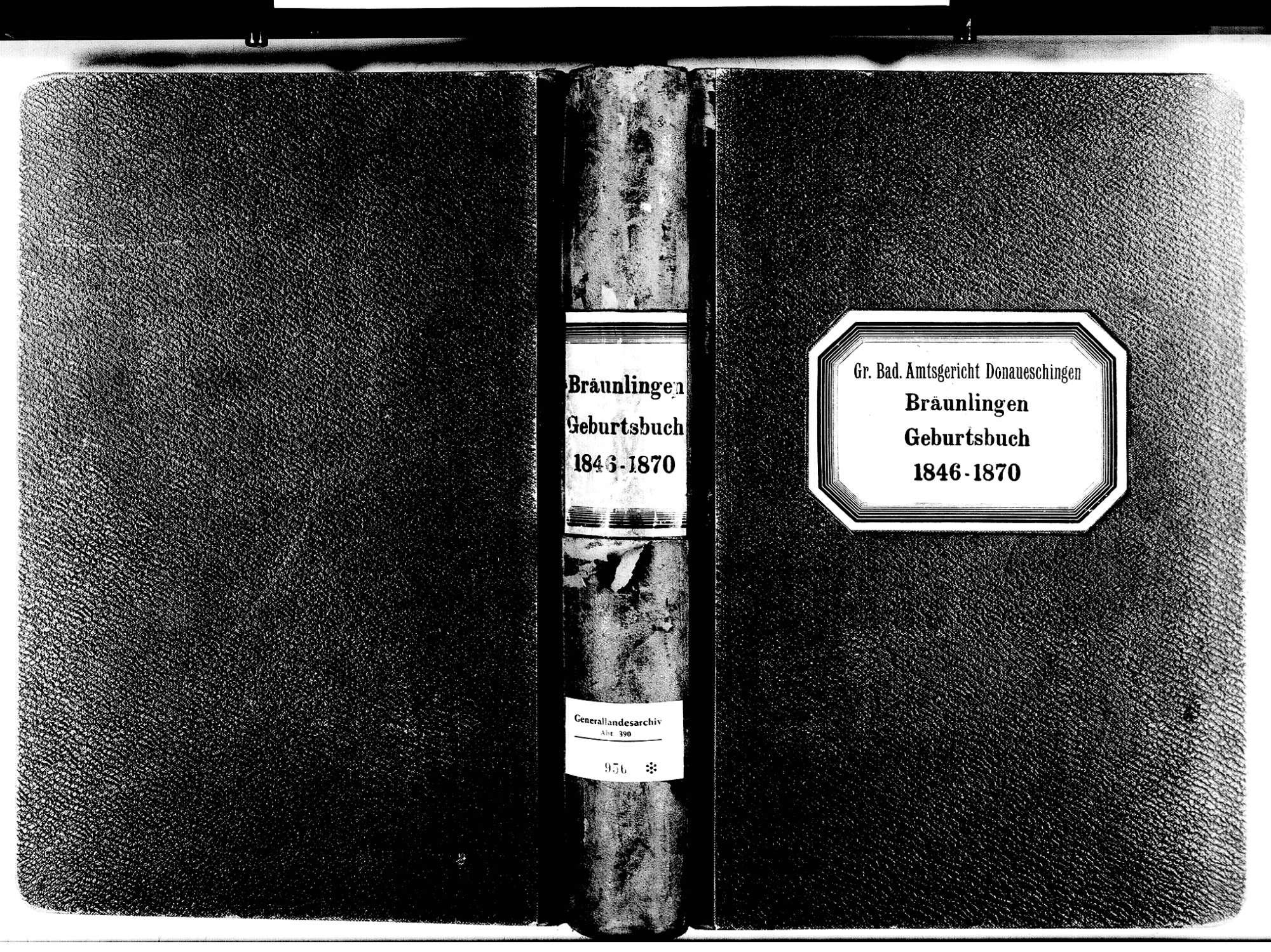 Bräunlingen VS; Katholische Gemeinde: Geburtenbuch 1846-1870, Bild 1