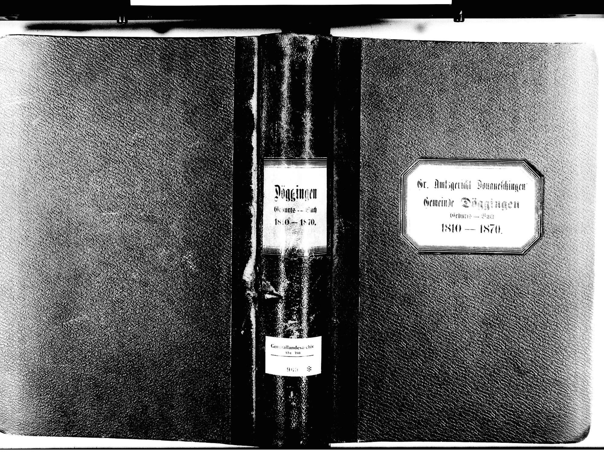 Döggingen, Bräunlingen VS; Katholische Gemeinde: Geburtenbuch 1810-1870, Bild 1