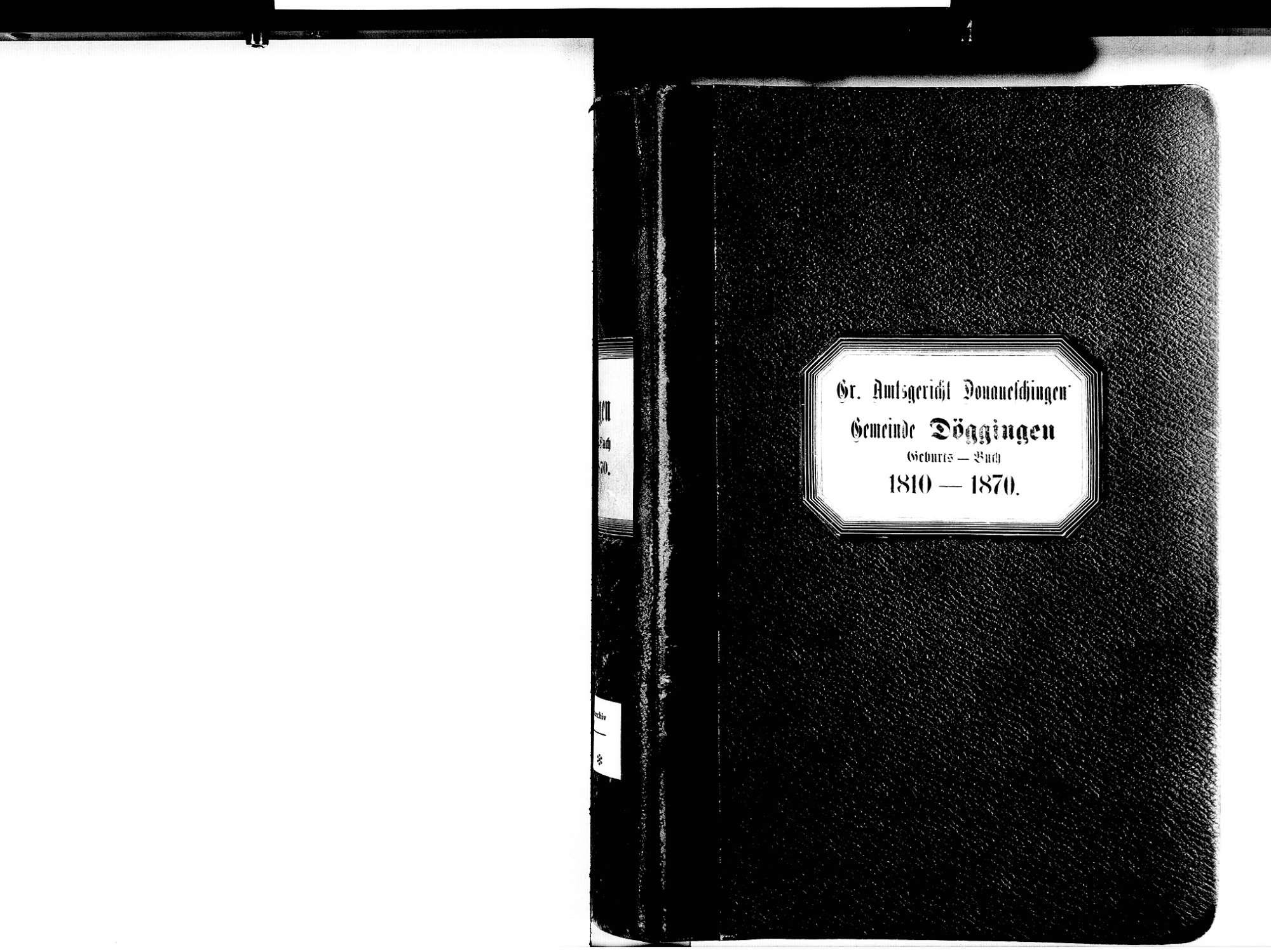 Döggingen, Bräunlingen VS; Katholische Gemeinde: Geburtenbuch 1810-1870, Bild 2