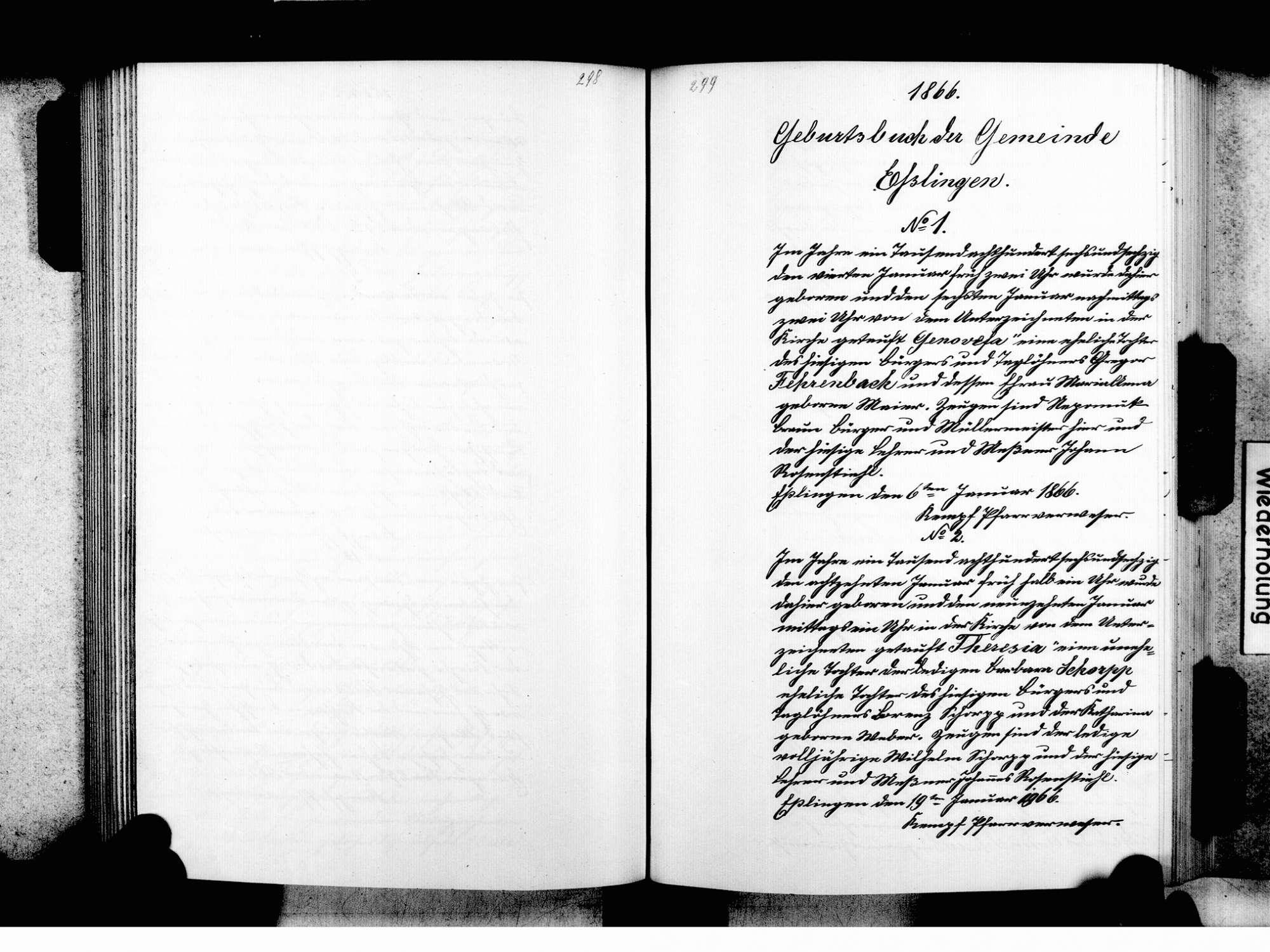 Eßlingen, Tuttlingen TUT; Katholische Gemeinde: Standesbuch 1810-1870, Bild 2
