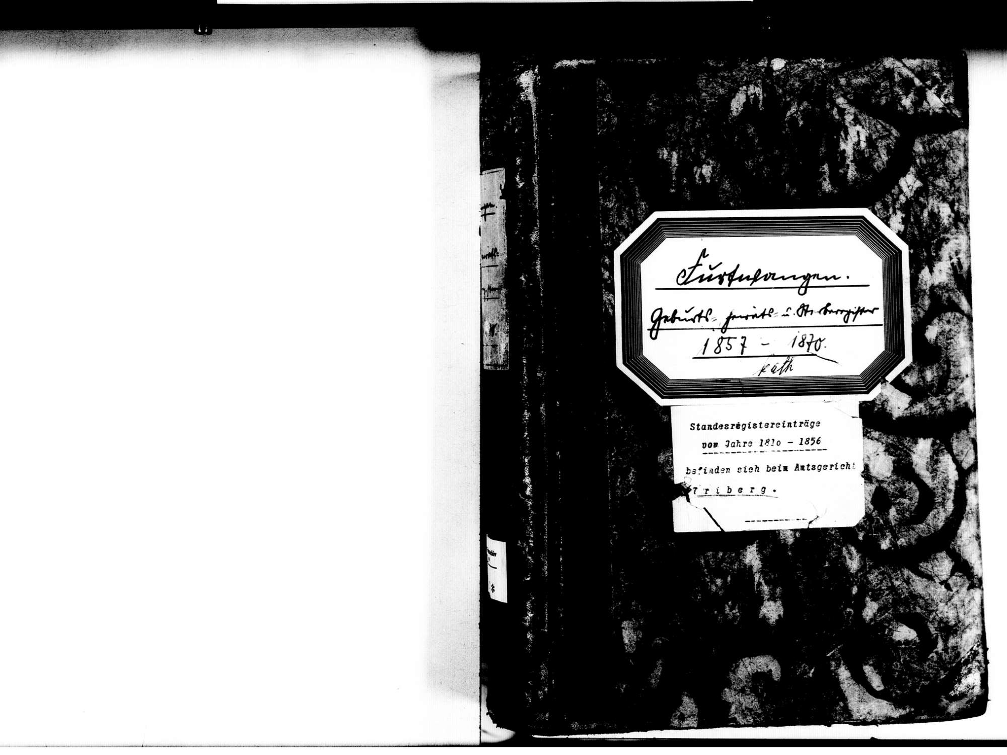 Furtwangen VS; Katholische Gemeinde: Standesbuch 1857-1870, Bild 3