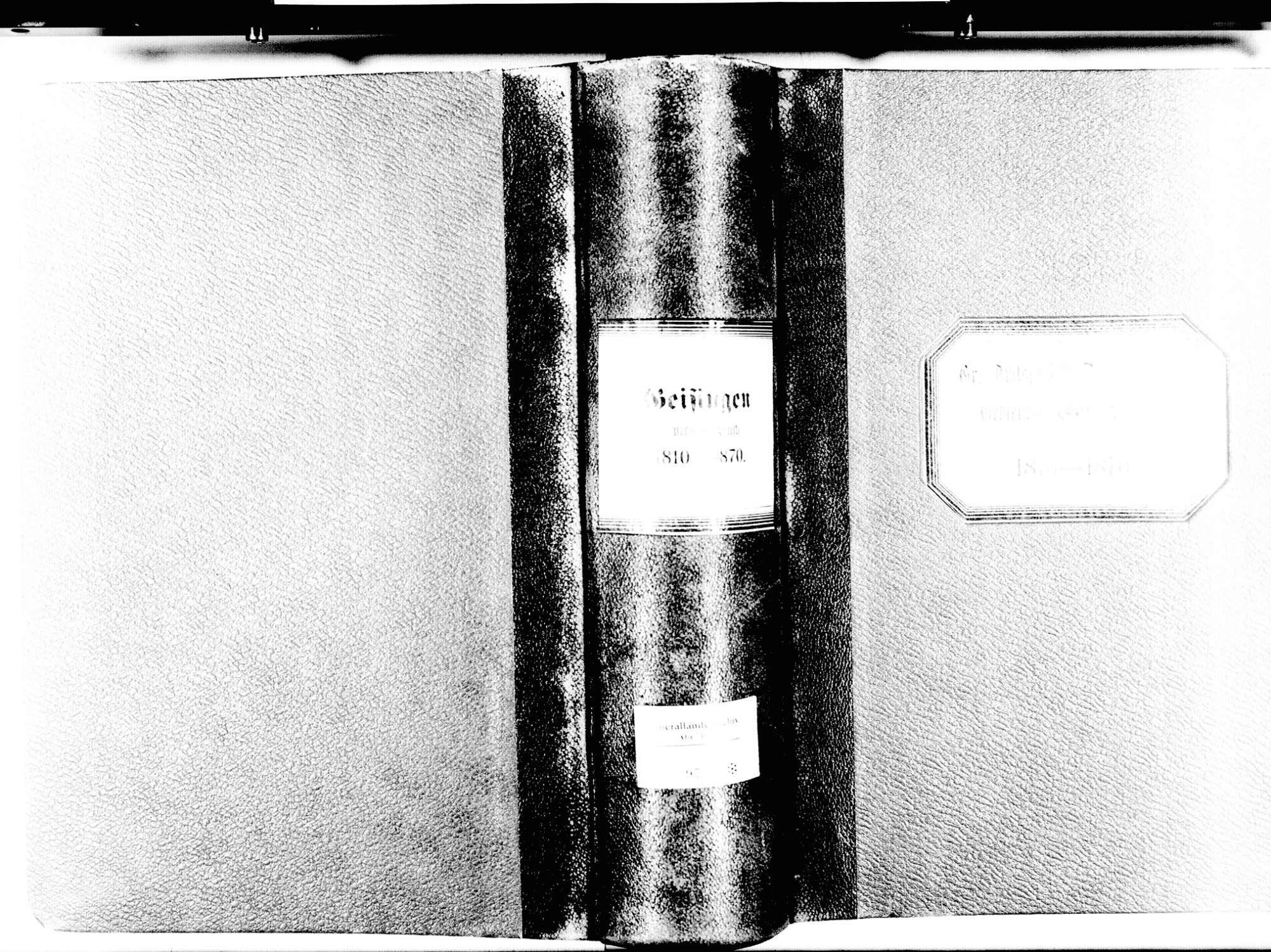 Geisingen TUT; Katholische Gemeinde: Sterbebuch 1810-1870, Bild 2