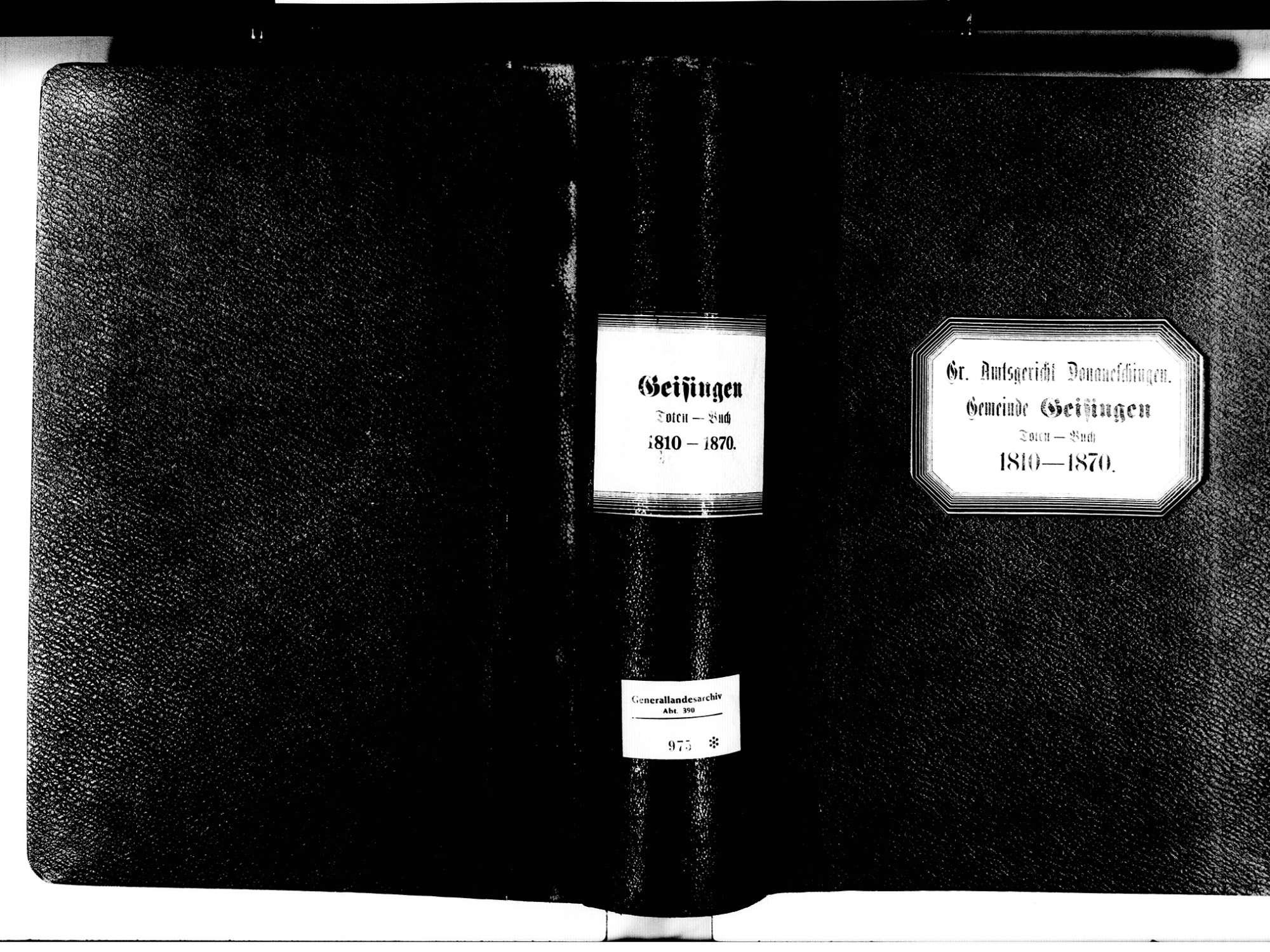 Geisingen TUT; Katholische Gemeinde: Sterbebuch 1810-1870, Bild 3