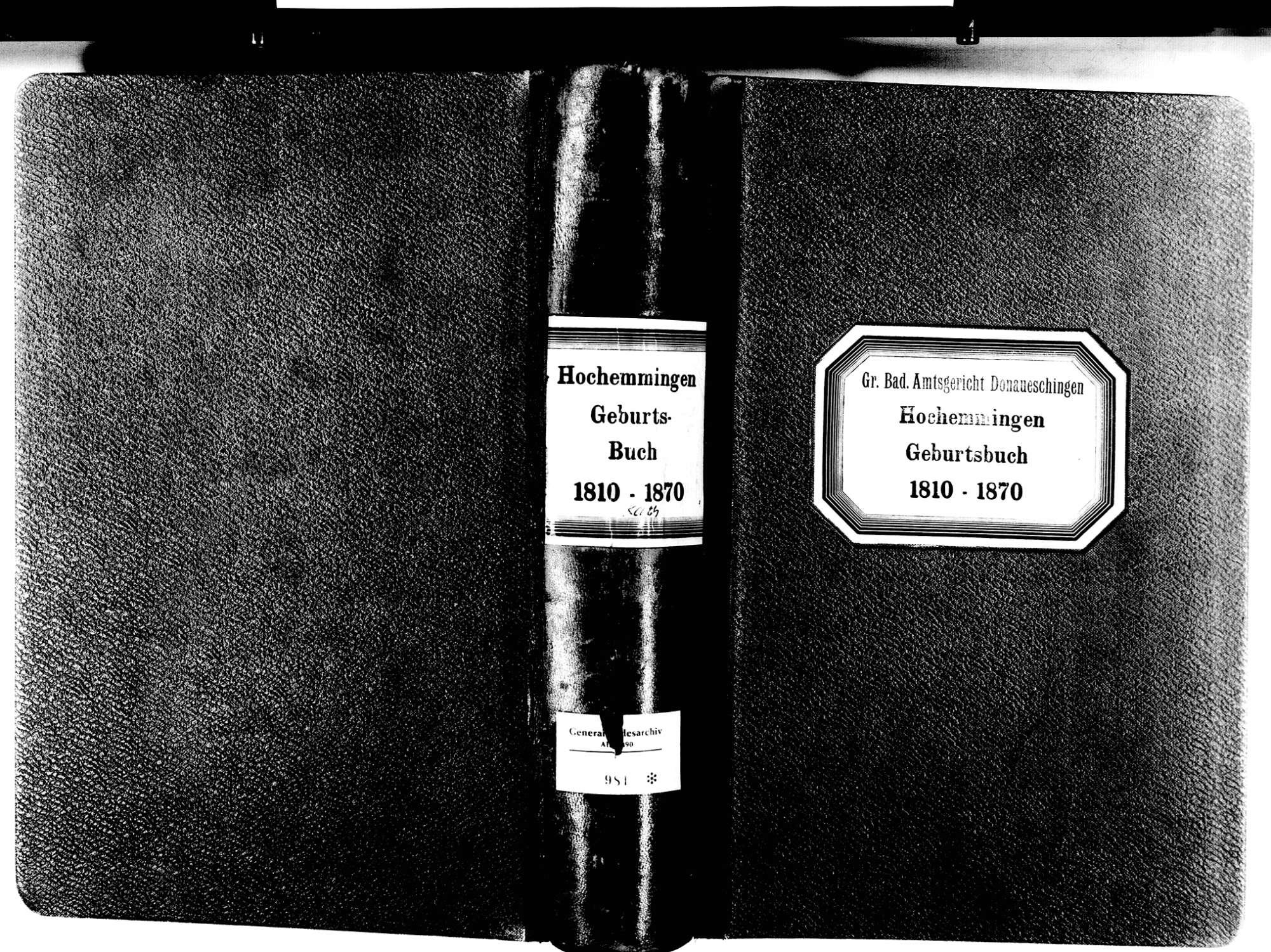 Hochemmingen, Bad Dürrheim VS; Katholische Gemeinde: Geburtenbuch 1810-1870, Bild 2
