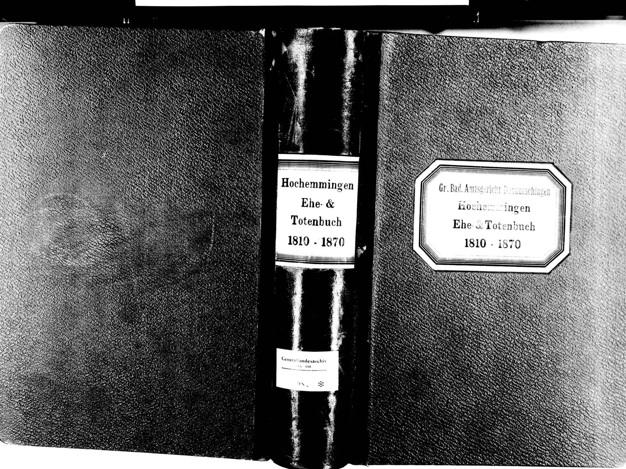 Hochemmingen, Bad Dürrheim VS; Katholische Gemeinde: Heirats- und Sterbebuch 1810-1870, Bild 2