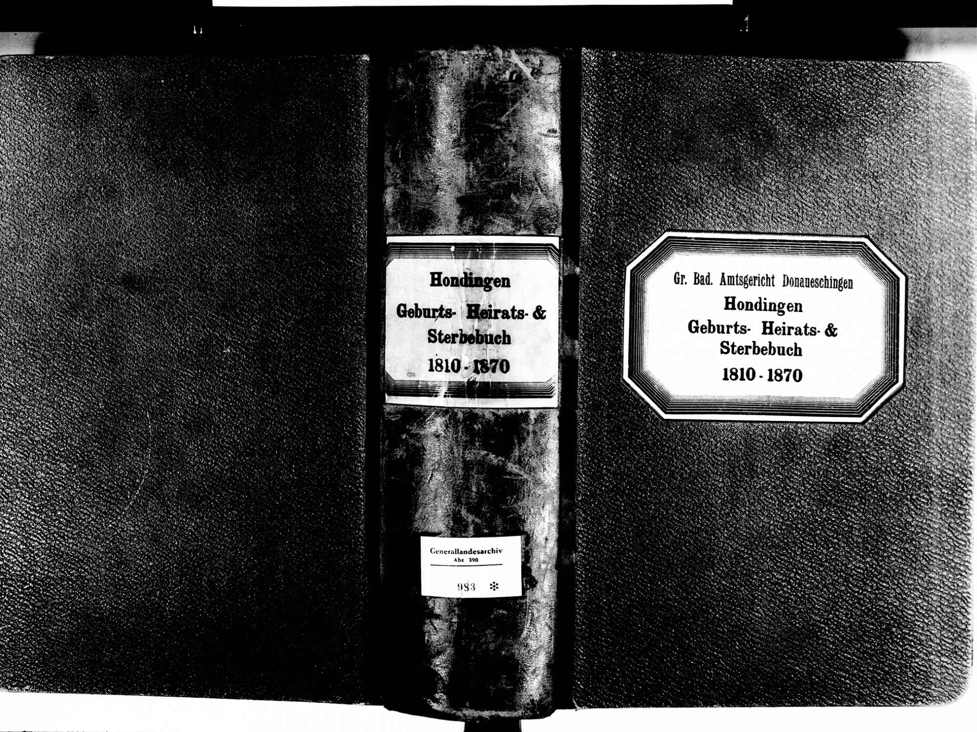 Hondingen, Blumberg VS; Katholische Gemeinde: Standesbuch 1810-1870, Bild 2