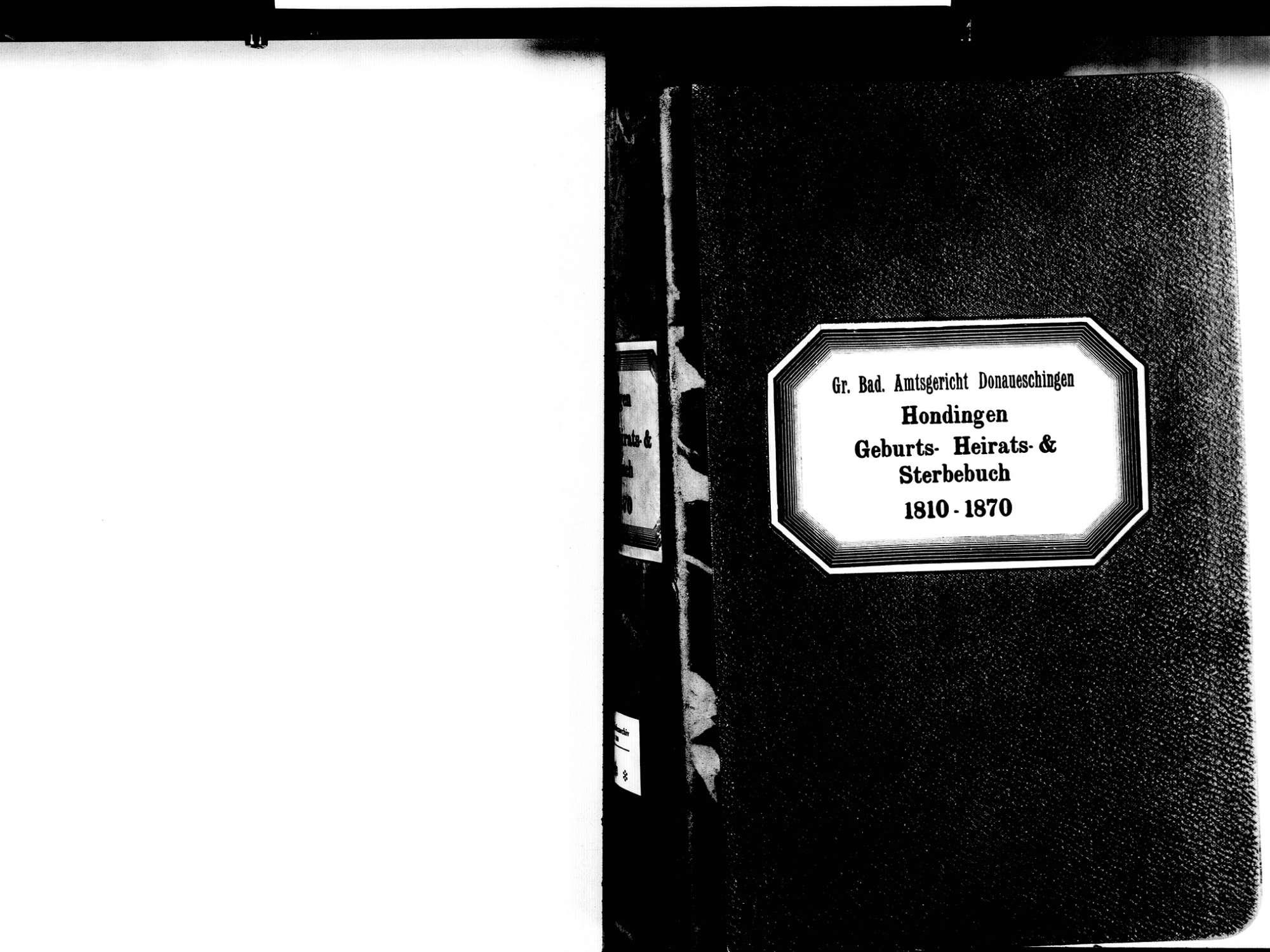 Hondingen, Blumberg VS; Katholische Gemeinde: Standesbuch 1810-1870, Bild 3