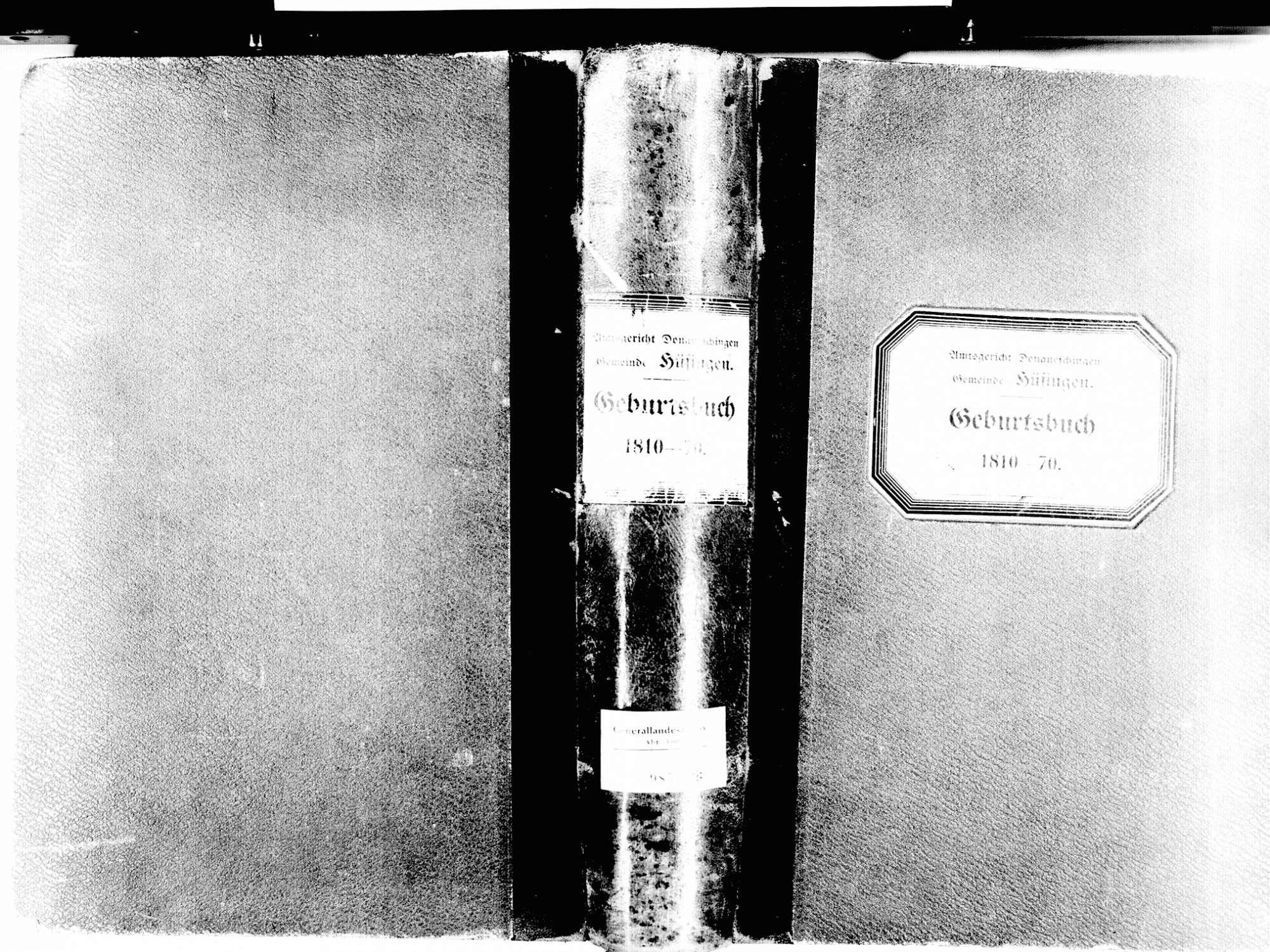 Hüfingen VS; Katholische Gemeinde: Geburtenbuch 1810-1870, Bild 2