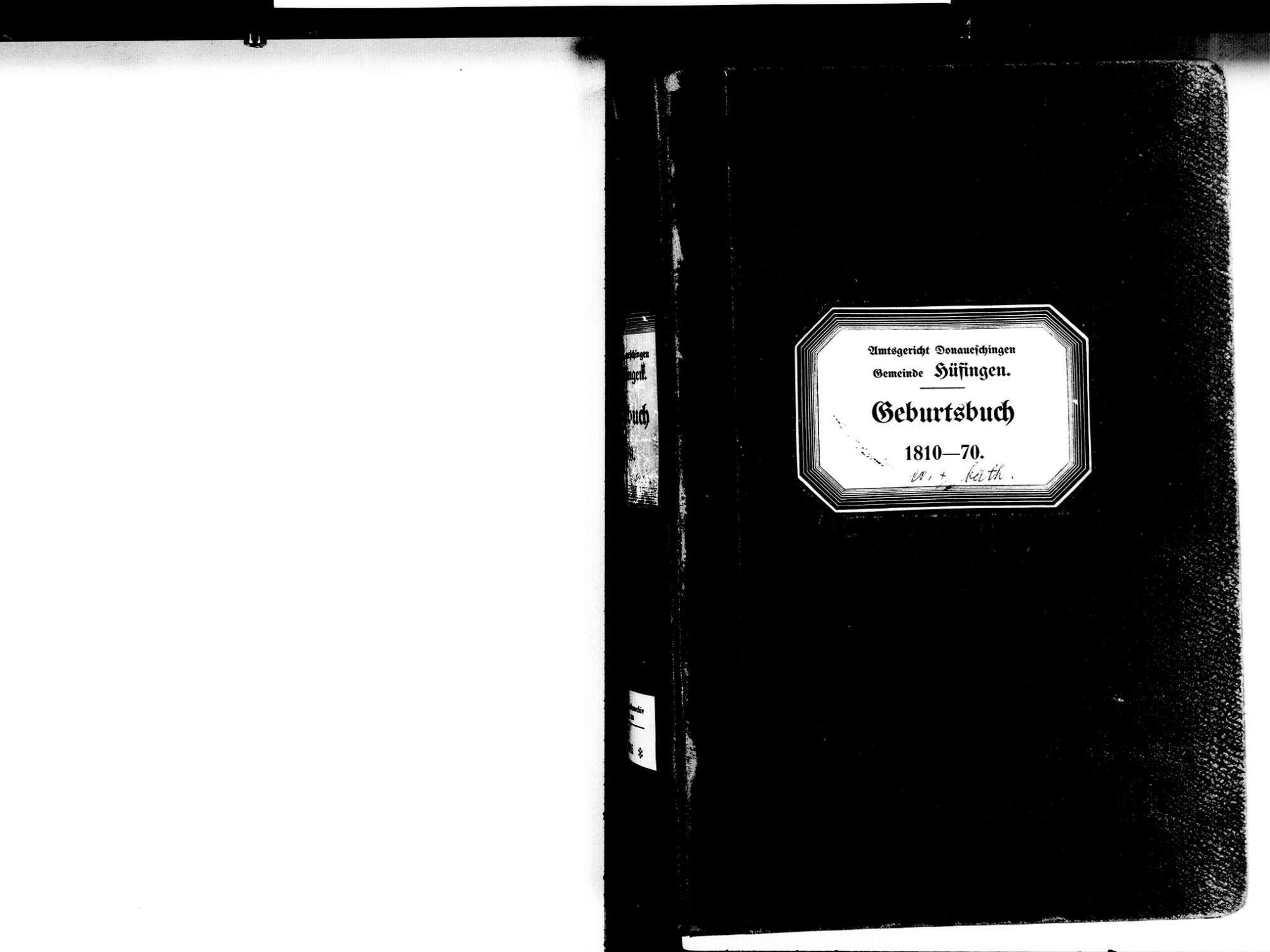 Hüfingen VS; Katholische Gemeinde: Geburtenbuch 1810-1870, Bild 3