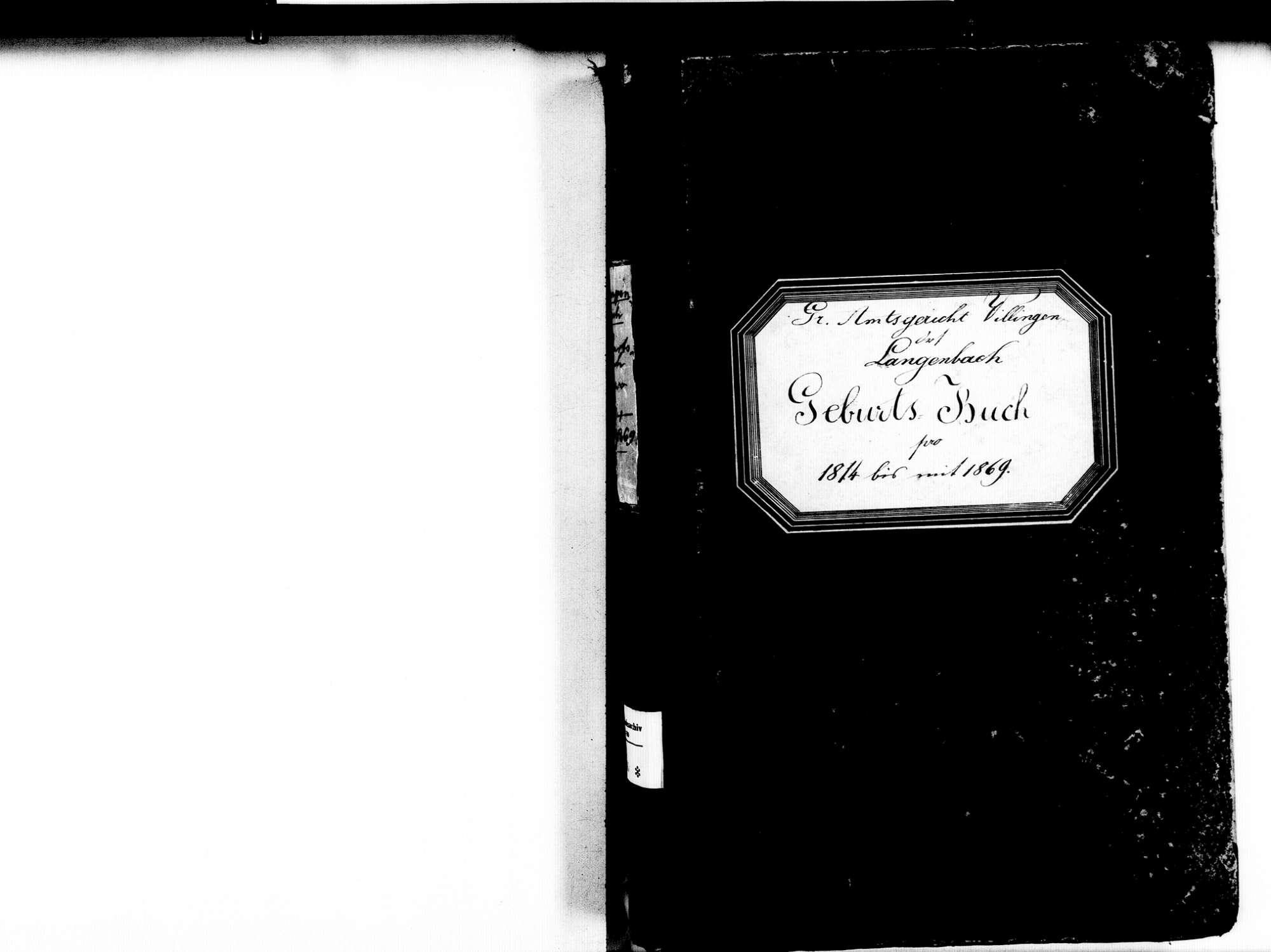 Langenbach, Vöhrenbach VS; Katholische Gemeinde: Geburtenbuch 1814-1869, Bild 3