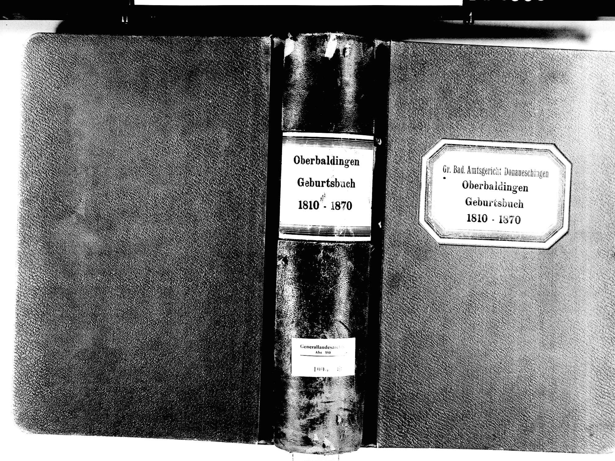 Oberbaldingen, Bad Dürrheim VS; Evangelische Gemeinde: Geburtenbuch 1810-1870, Bild 1