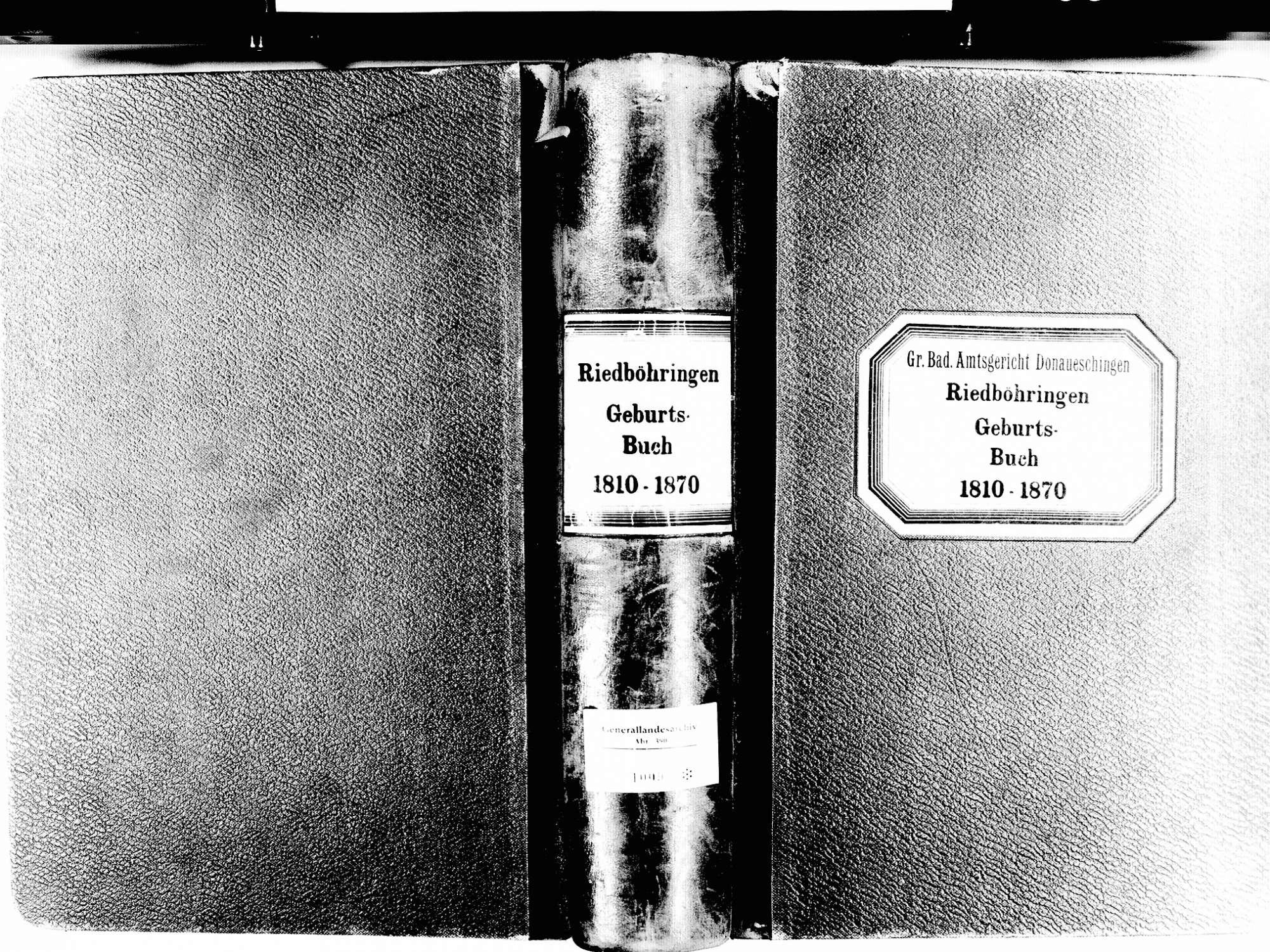 Riedböhringen, Blumberg VS; Katholische Gemeinde: Geburtenbuch 1810-1870, Bild 1
